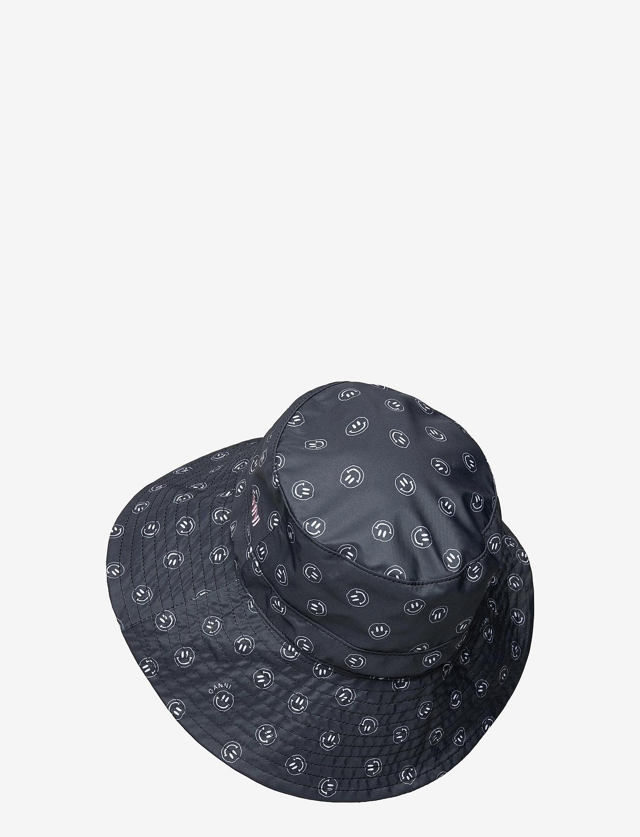 Ganni - Seasonal Recycled Tech Fabric - bøllehatte - phantom - 1