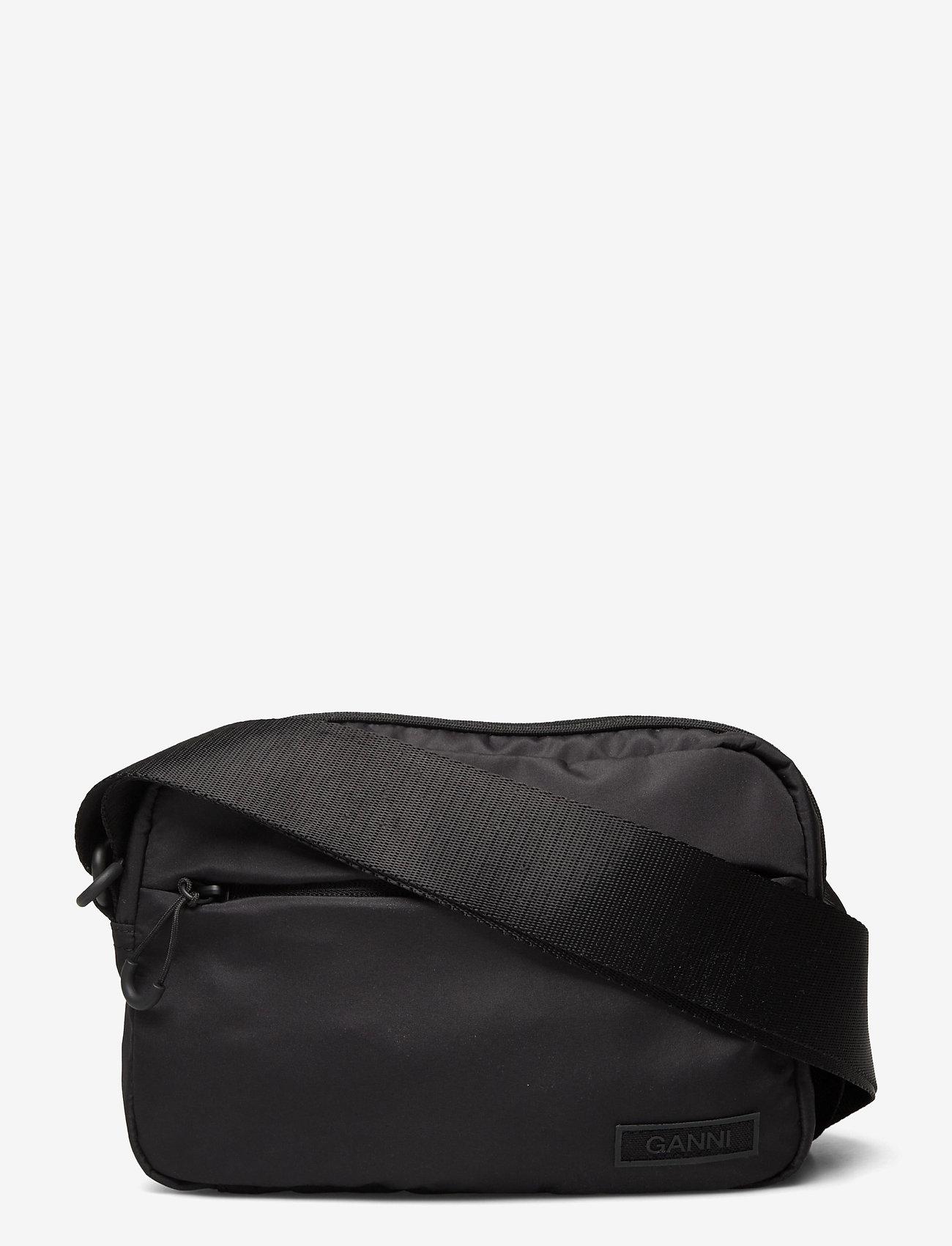 Ganni - Recycled Tech Fabric Bags - tasker - black - 0