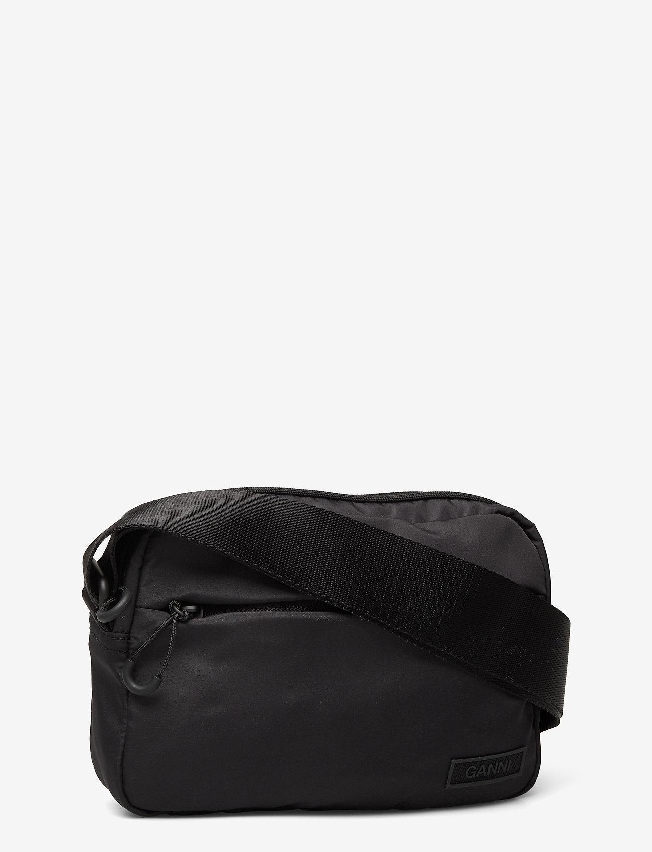 Ganni - Recycled Tech Fabric Bags - tasker - black - 2