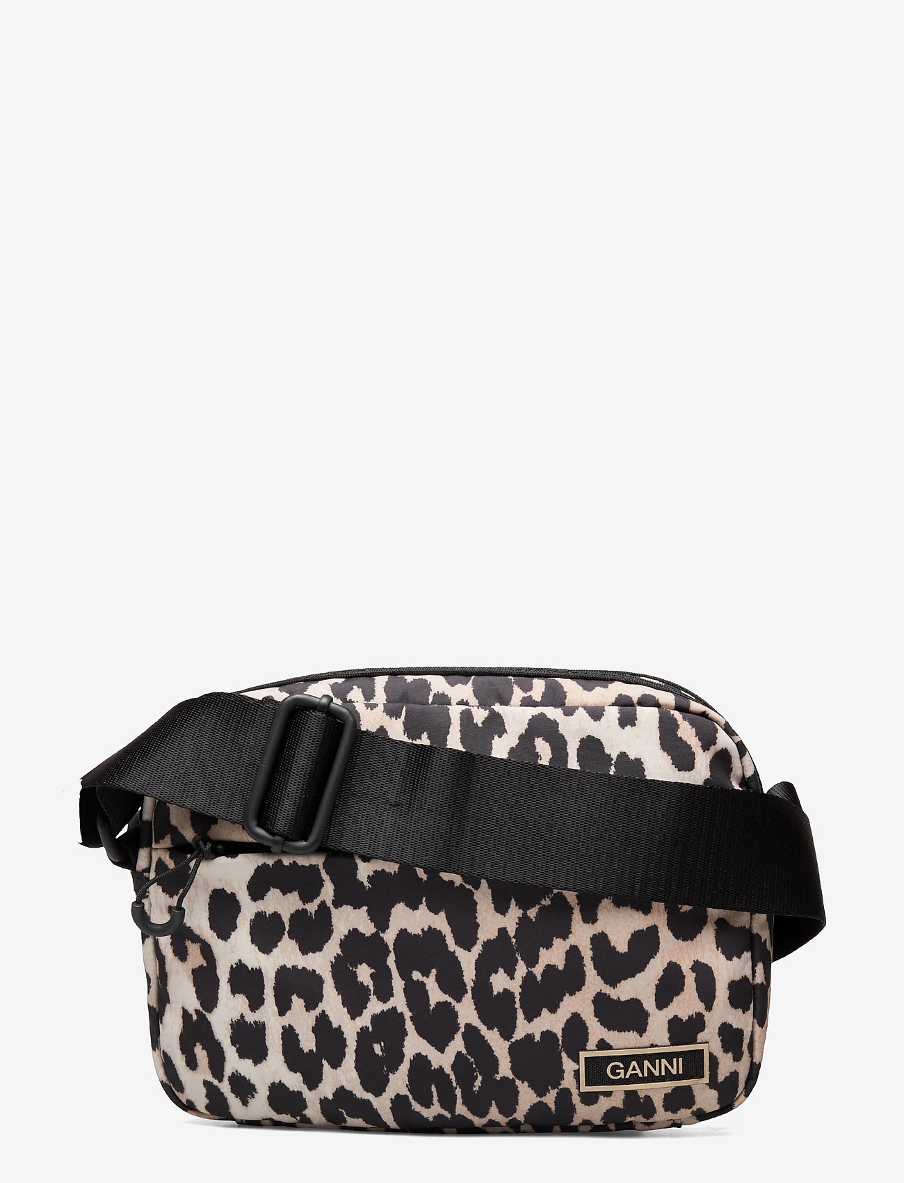 Ganni - Recycled Tech Fabric Bags - shoulder bags - leopard - 0