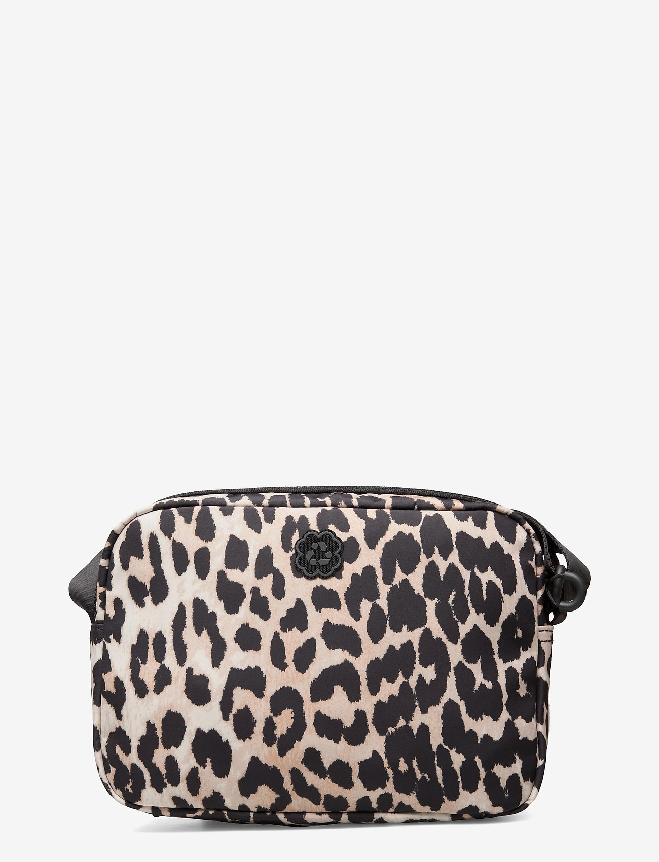 Ganni - Recycled Tech Fabric Bags - shoulder bags - leopard - 1
