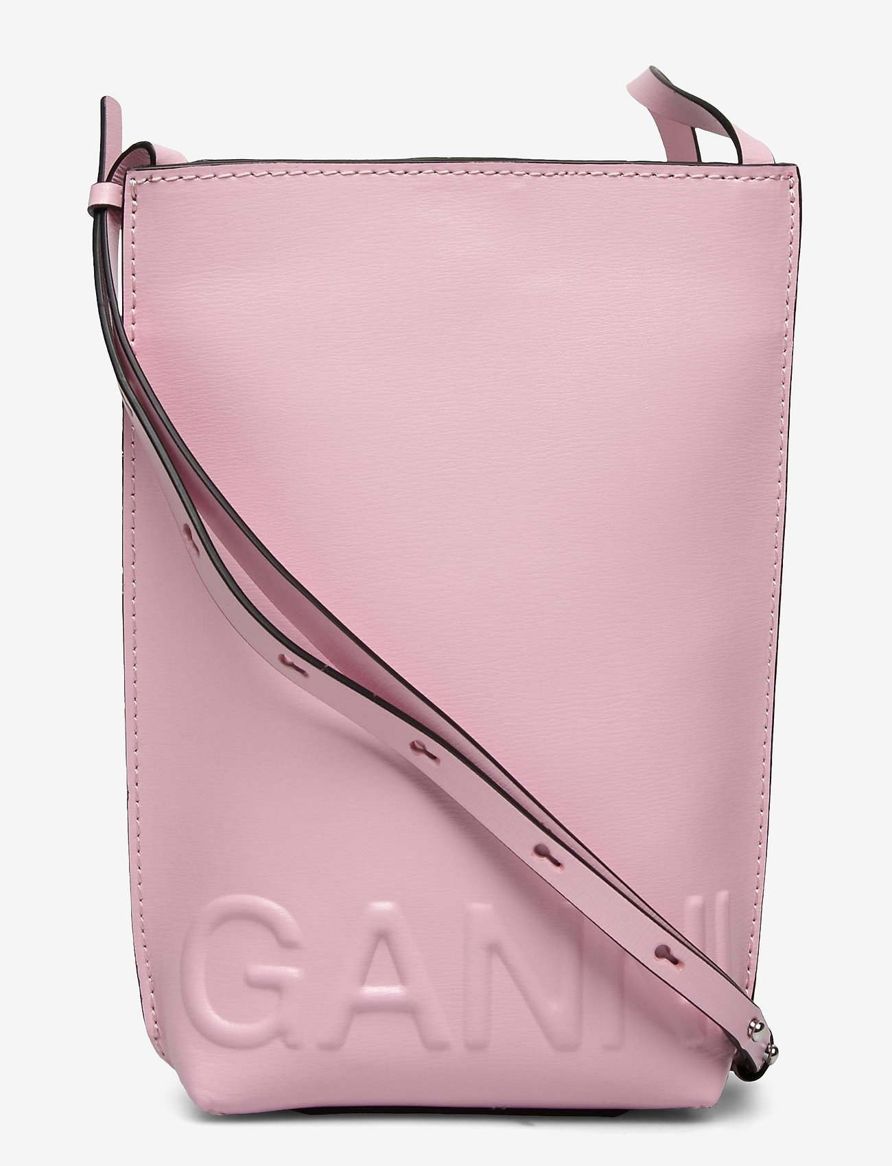 Ganni - Recycled Leather - shoulder bags - pink nectar - 0
