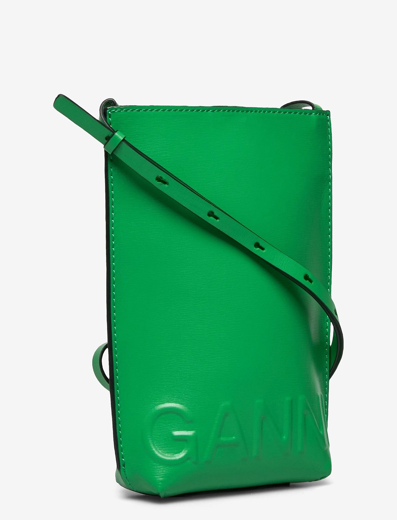 Ganni - Recycled Leather - tasker - kelly green - 2
