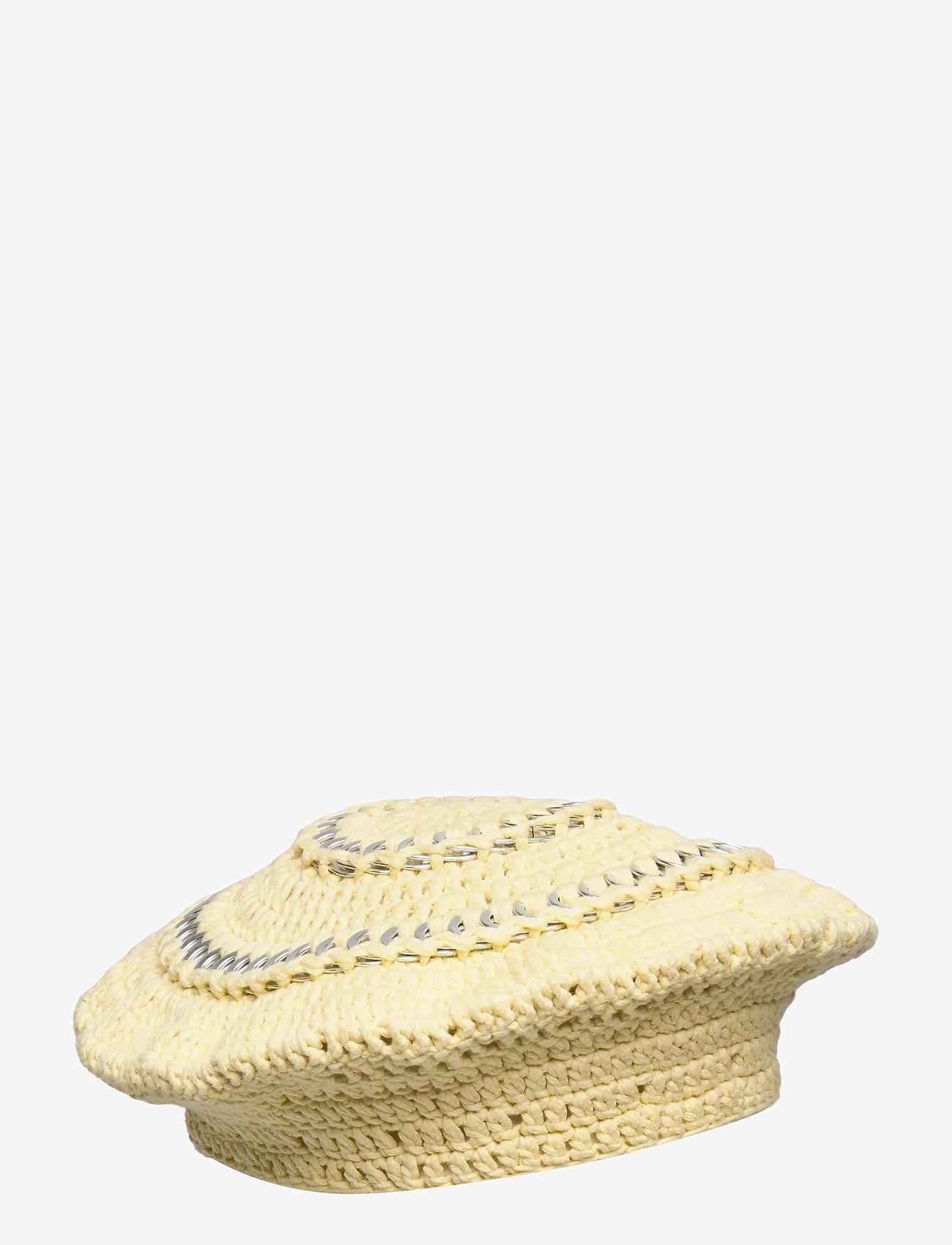 Ganni - Cotton Knit - bøllehatte - pale banana - 0