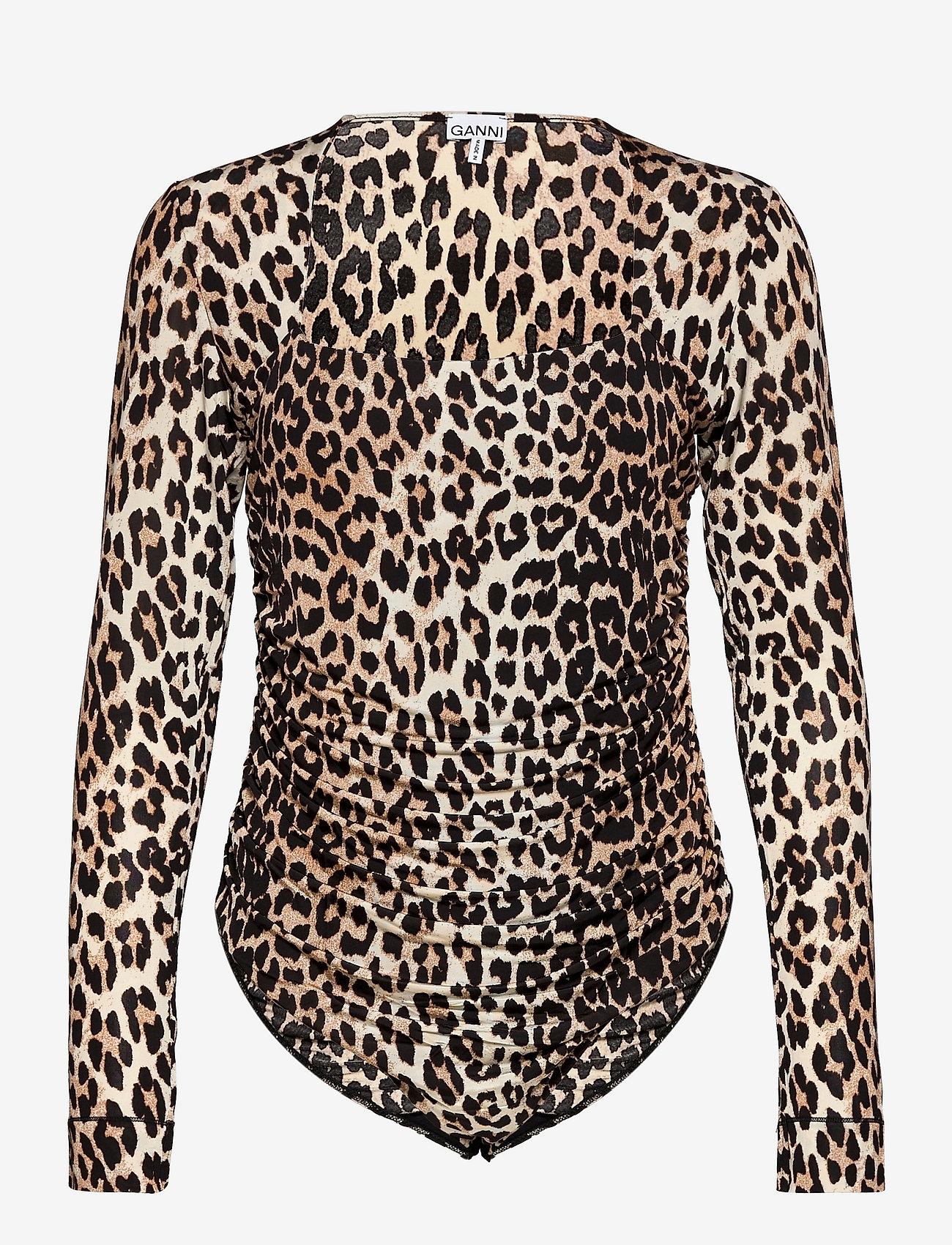 Ganni - Rayon Underwear - bodies & underkjoler - leopard - 0