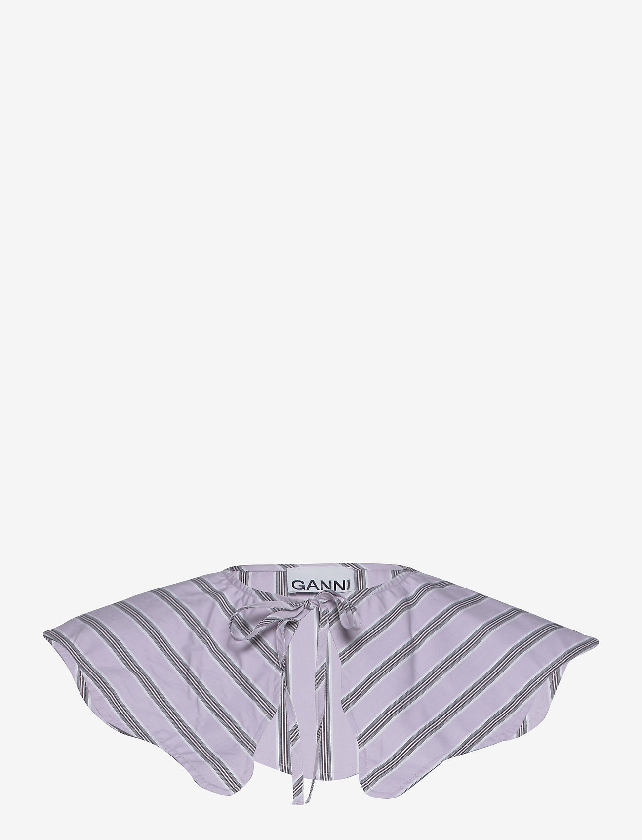 Ganni - Stripe Cotton - accessories - misty lilac - 0