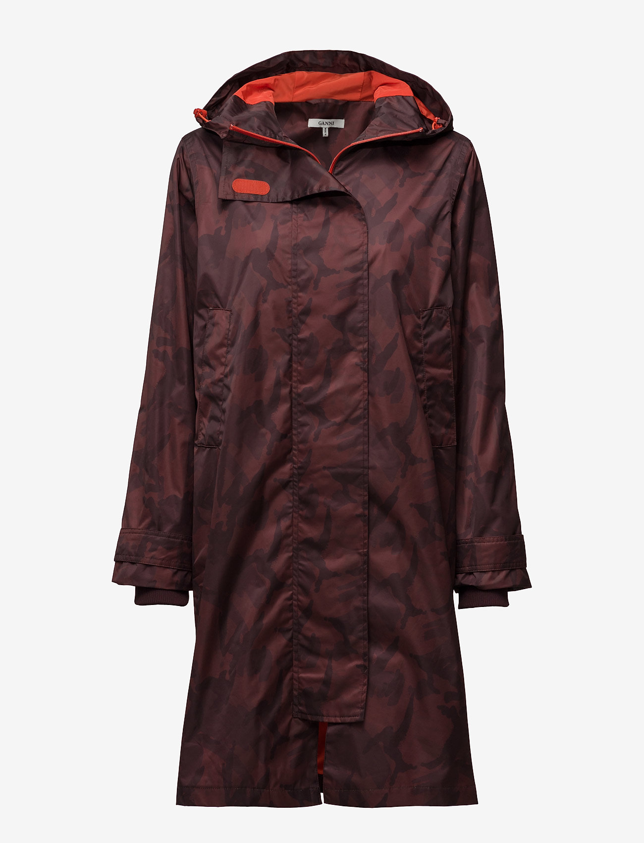 Ganni - Vandalia - cienkie płaszcze - decadent chocolate - 0