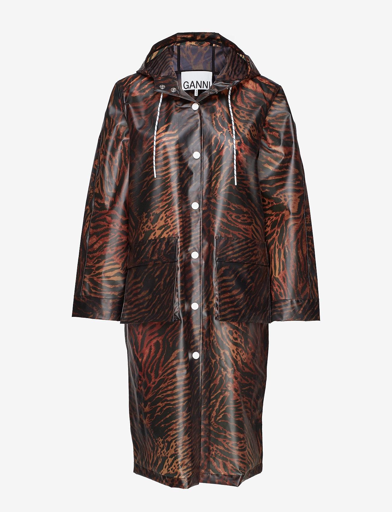 Ganni - Biodegradable Jacket - vêtements de pluie - tiger - 0