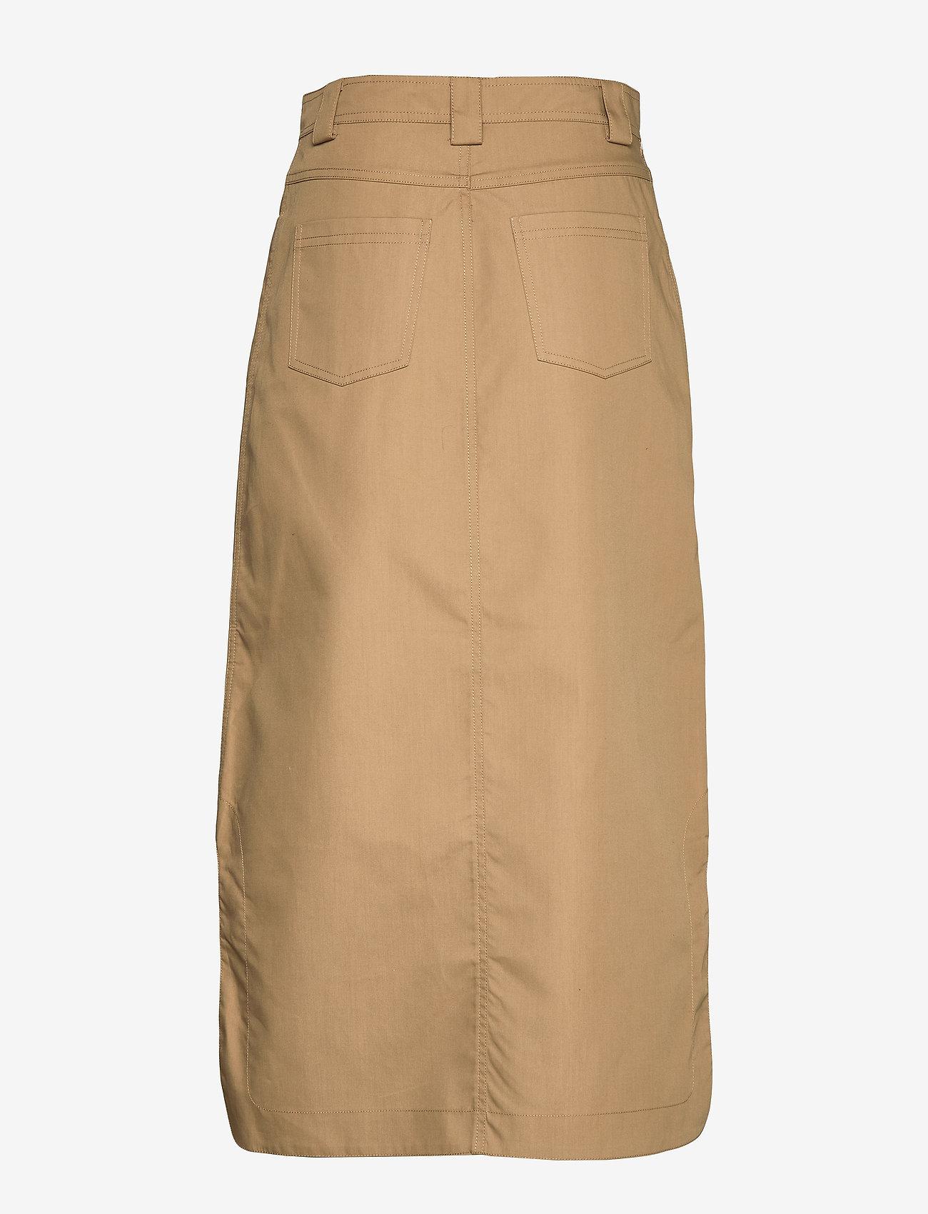 Ganni Double Cotton - Spódnice TIGER'S EYE - Kobiety Odzież.