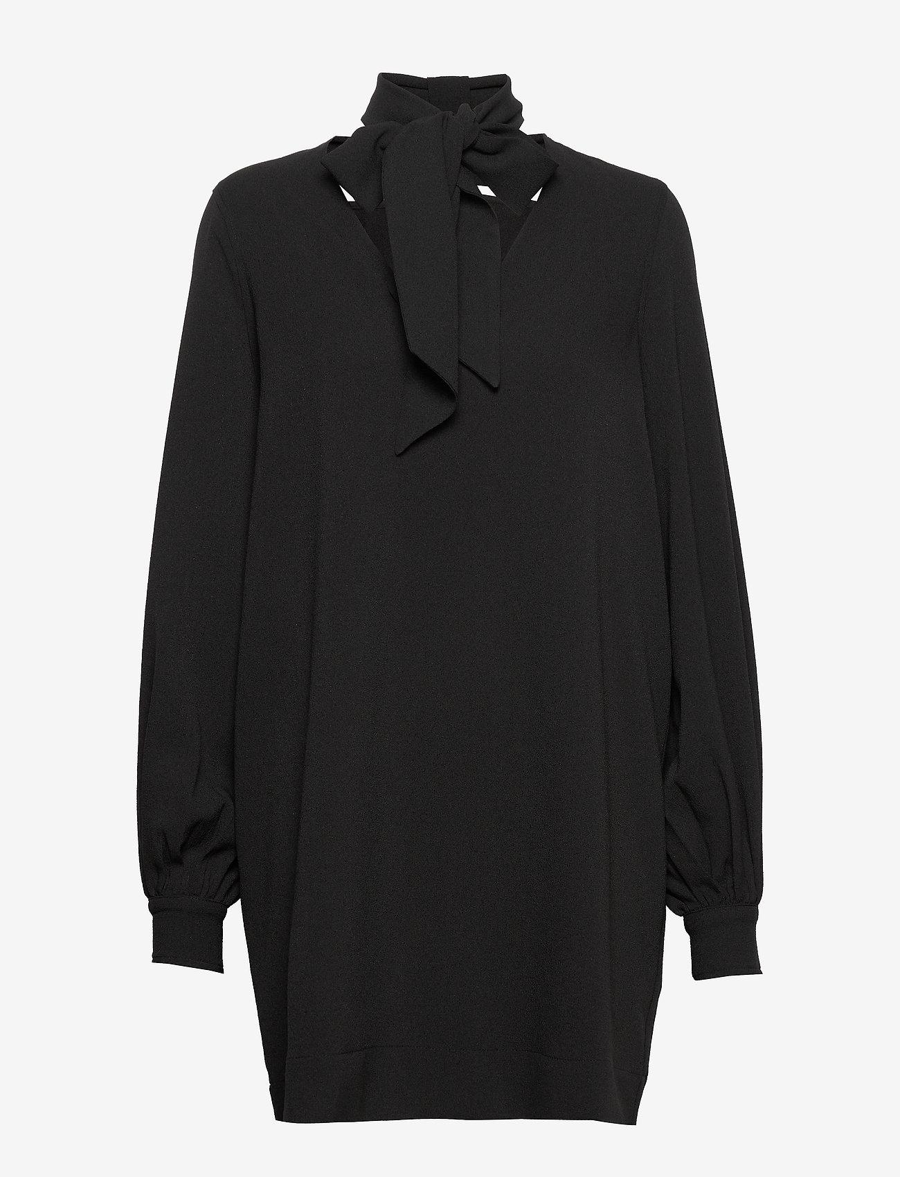 Ganni - Heavy Crepe Dress - korte kjoler - black - 0
