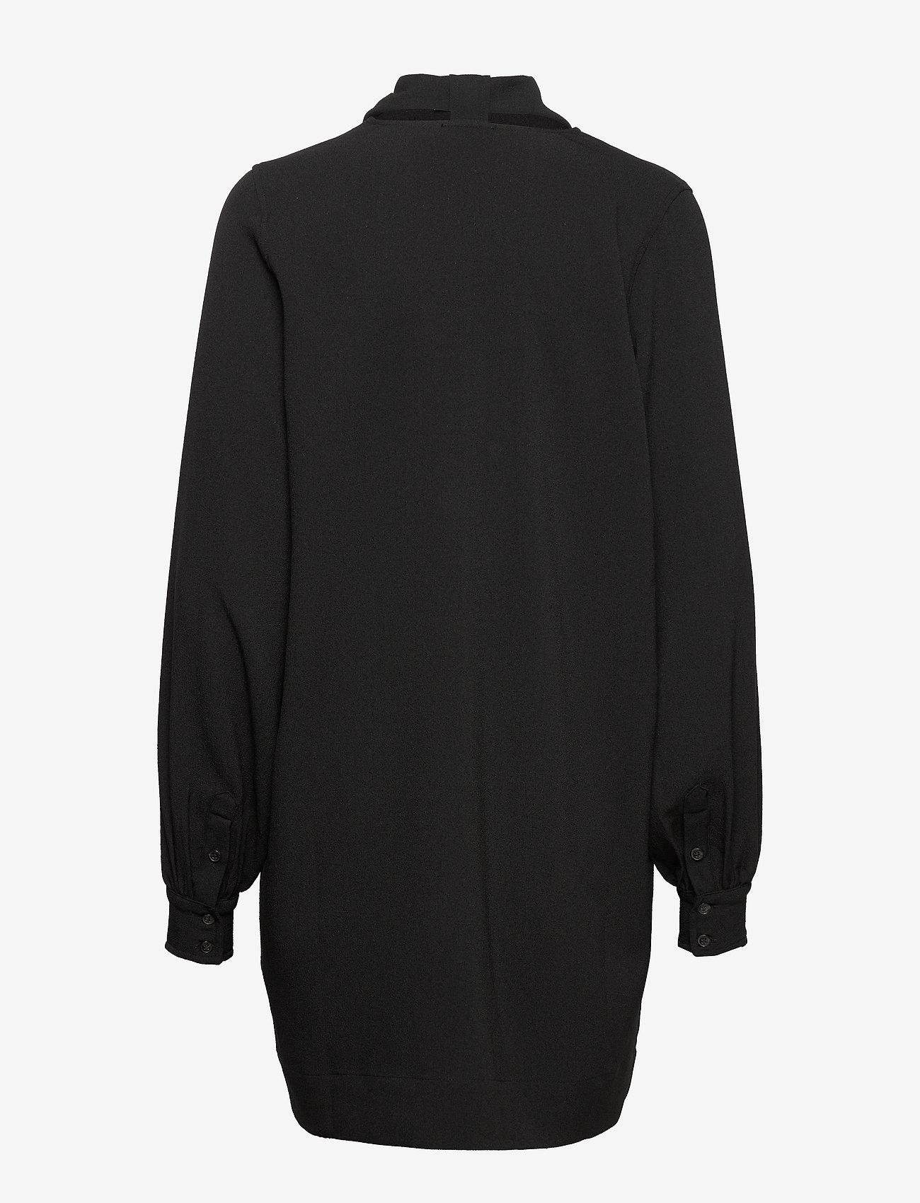 Ganni - Heavy Crepe Dress - korte kjoler - black - 1