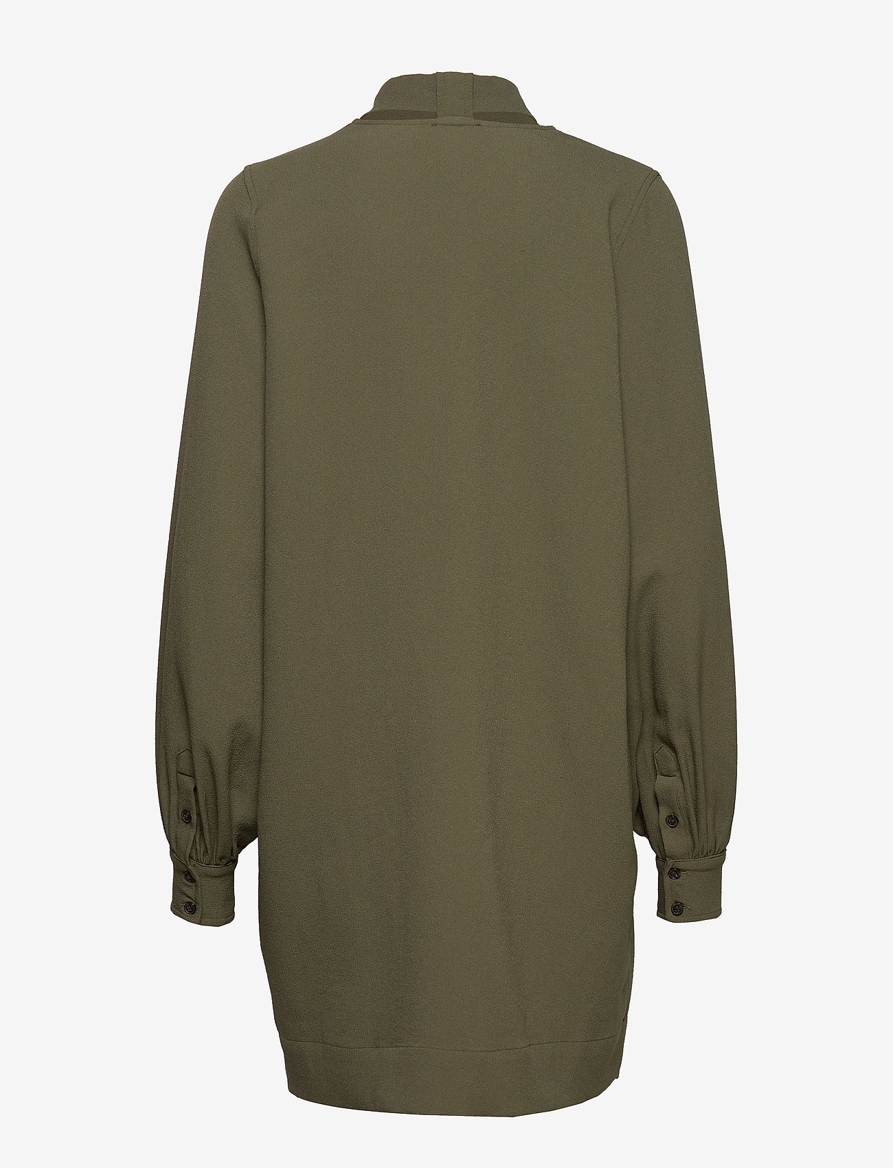 Ganni - Heavy Crepe Dress - korte kjoler - kalamata - 1