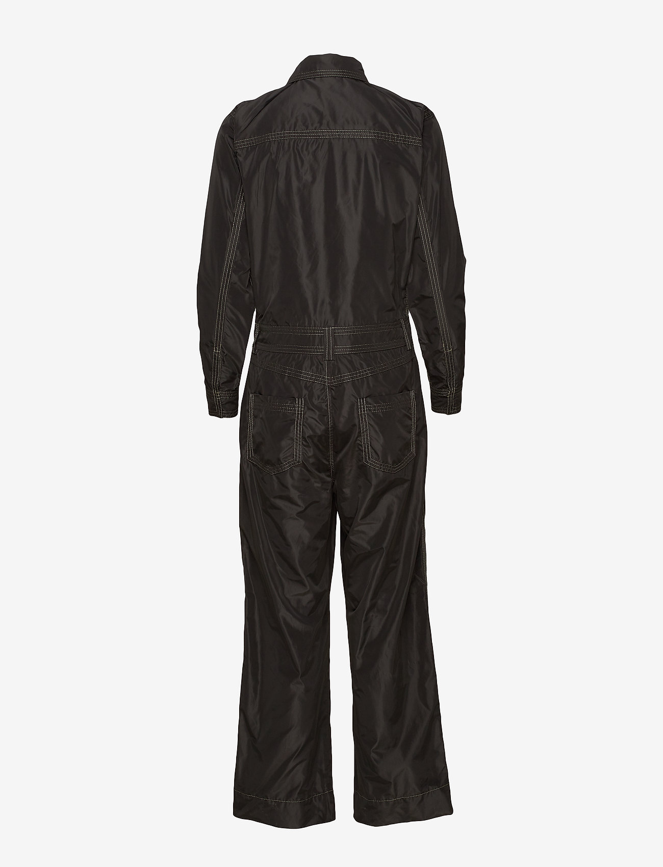 Ganni - Recycled Polyester Jumpsuit - jumpsuits - black - 1