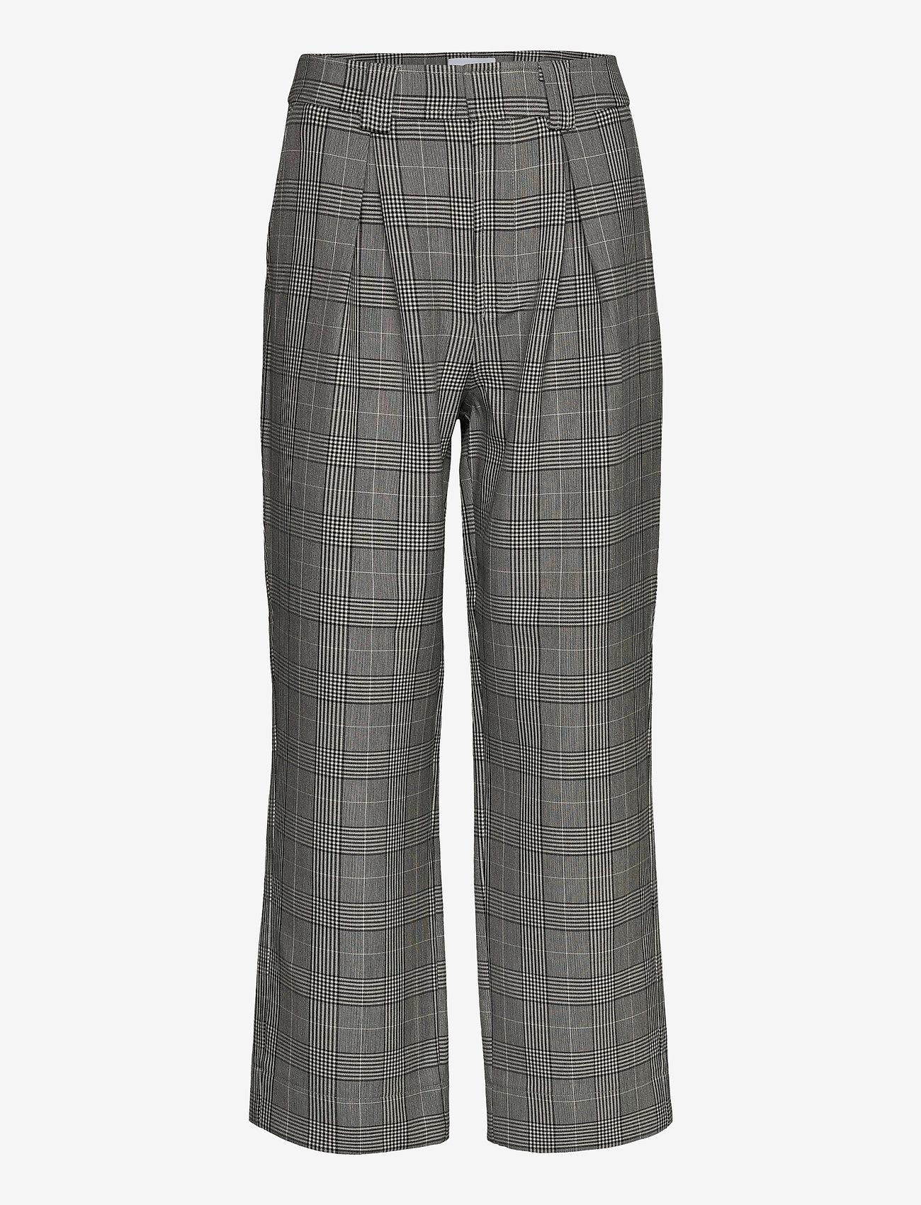 Ganni - Suiting - bukser med brede ben - phantom - 0