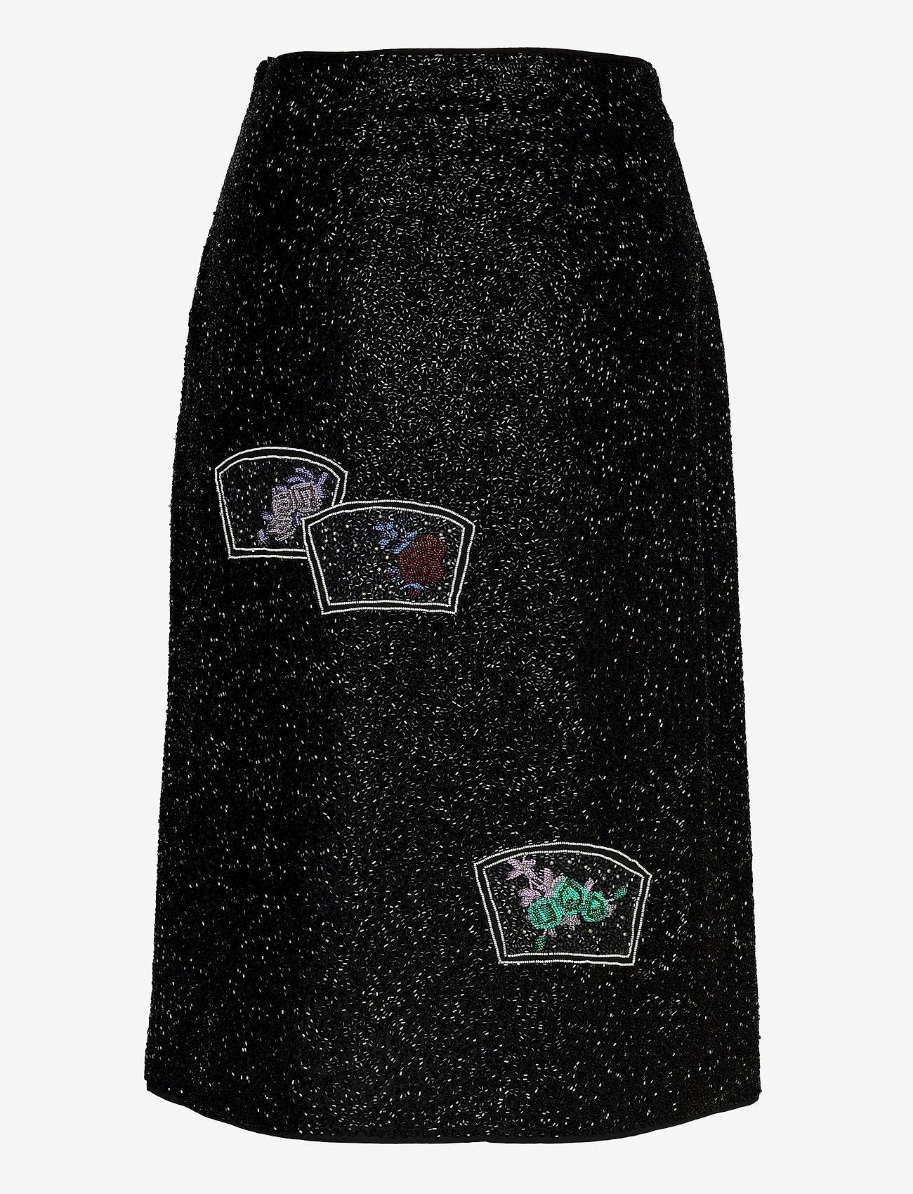 Ganni - Beads - midi skirts - black - 1