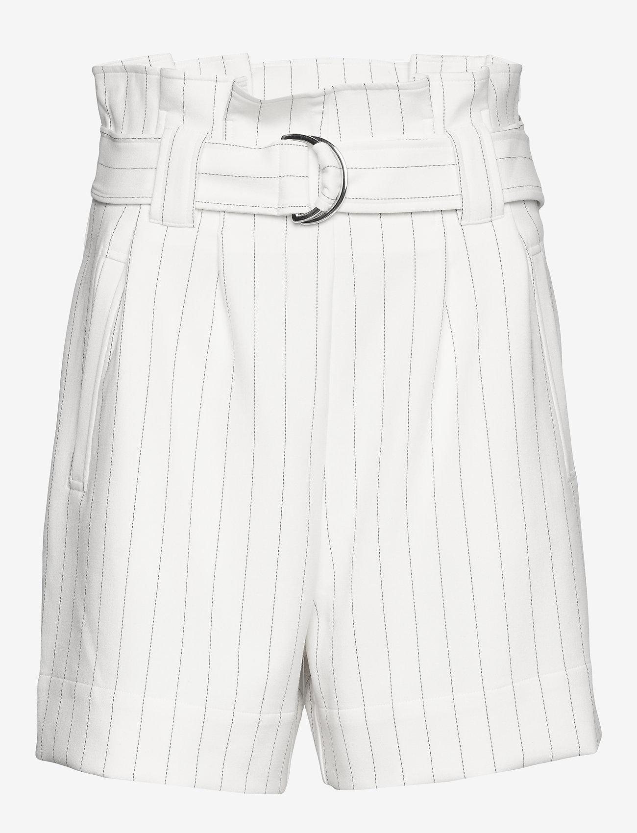 Ganni - Suiting - paper bag shorts - egret - 0