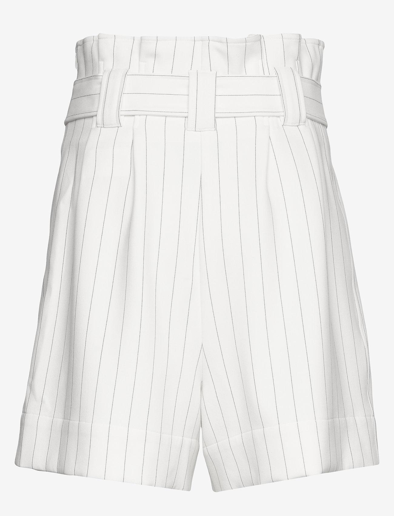 Ganni - Suiting - paper bag shorts - egret - 1