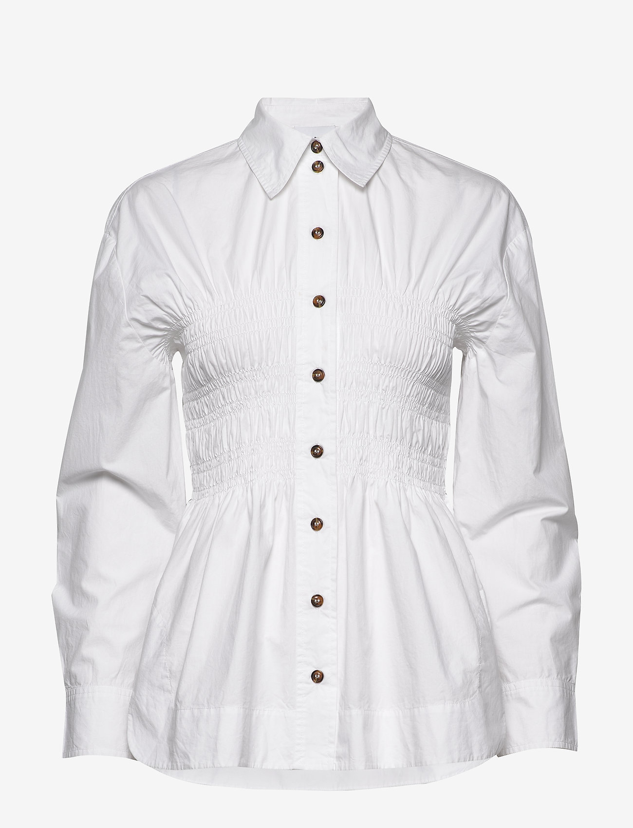 Ganni - Cotton Poplin - chemises à manches longues - bright white - 0