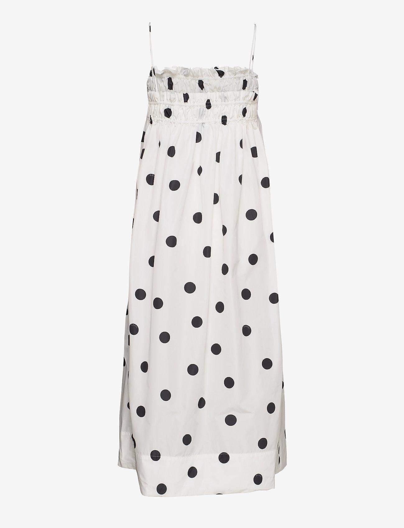 Ganni - Recycled Polyester - midi kjoler - egret - 1