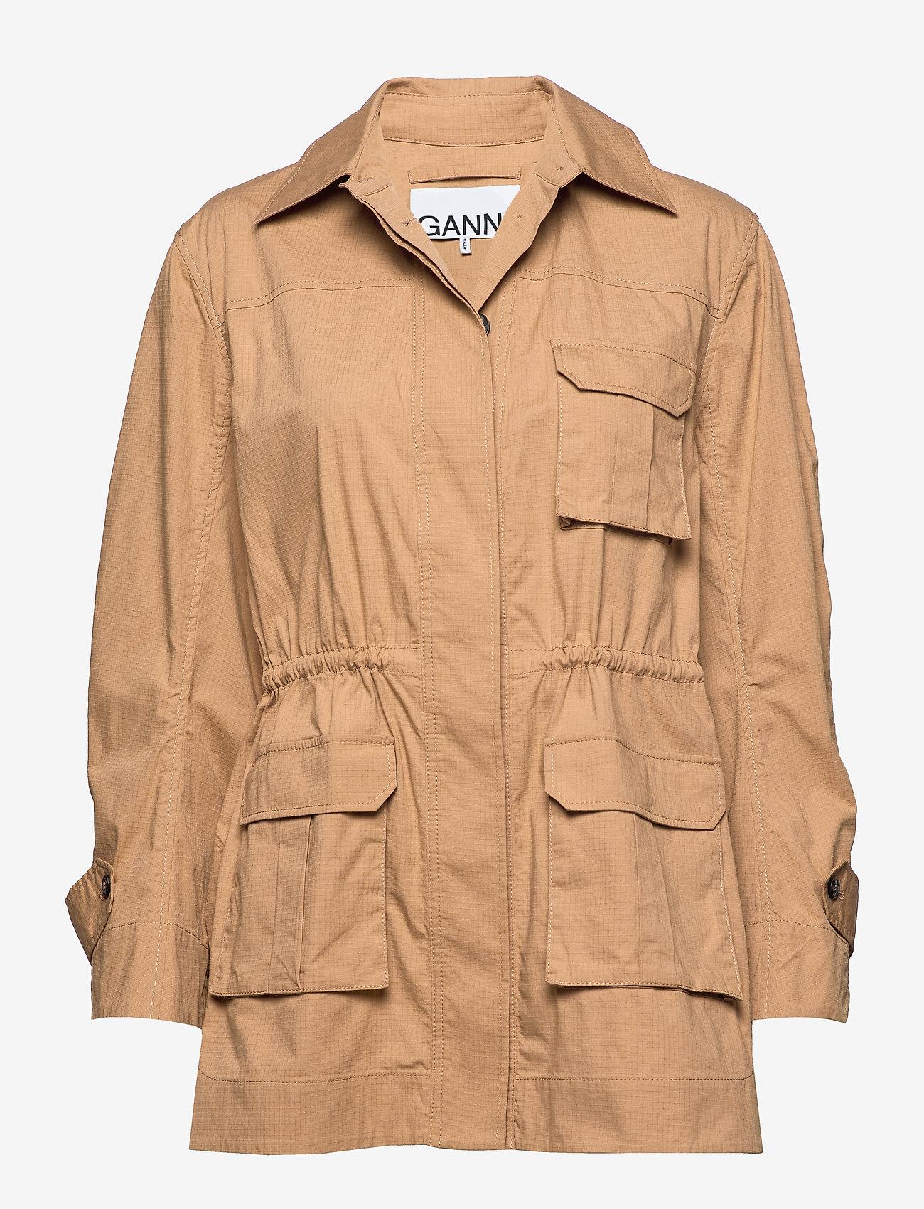 Ganni - Ripstop Cotton Chino - utility-jakker - tannin - 0
