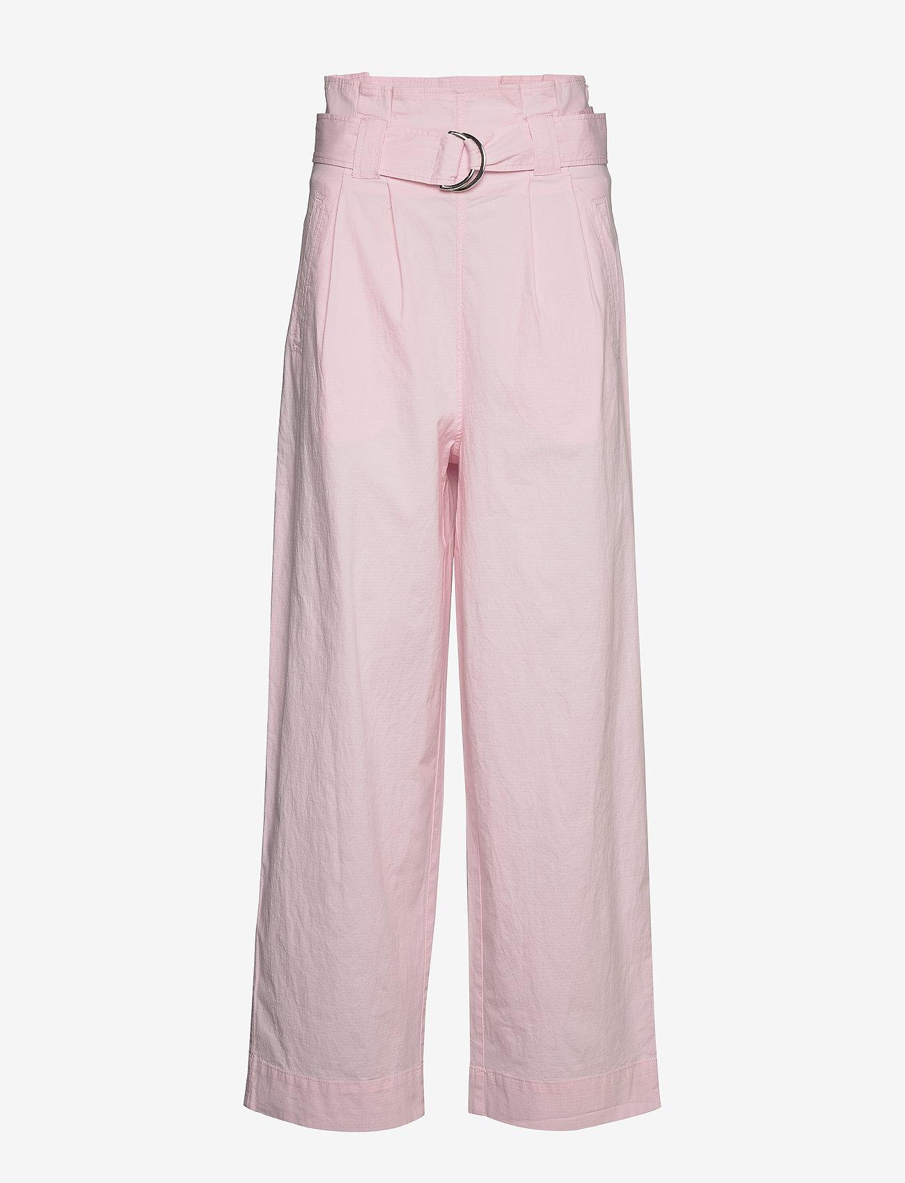 Ganni - Ripstop Cotton Chino - bukser med brede ben - cherry blossom - 0