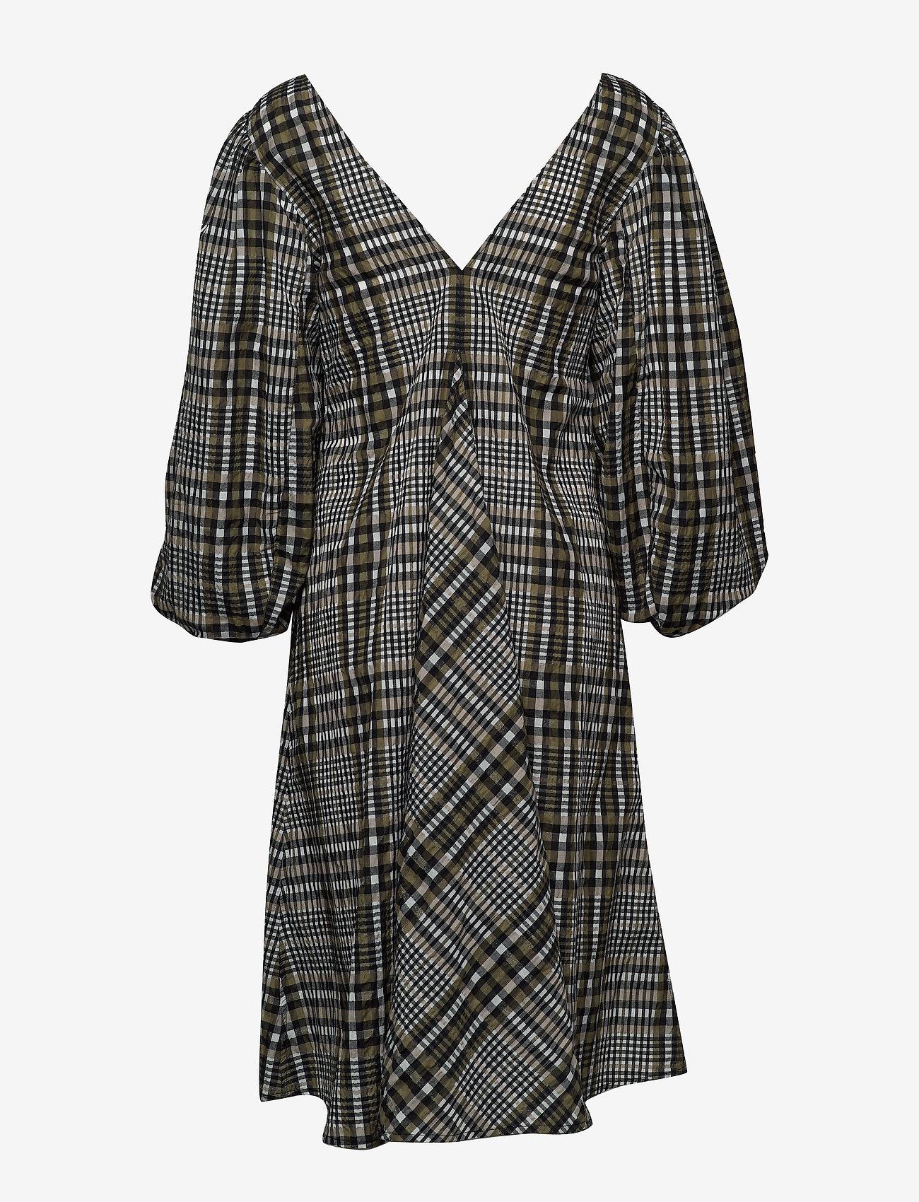 Ganni - Seersucker Check - midi kjoler - kalamata - 1