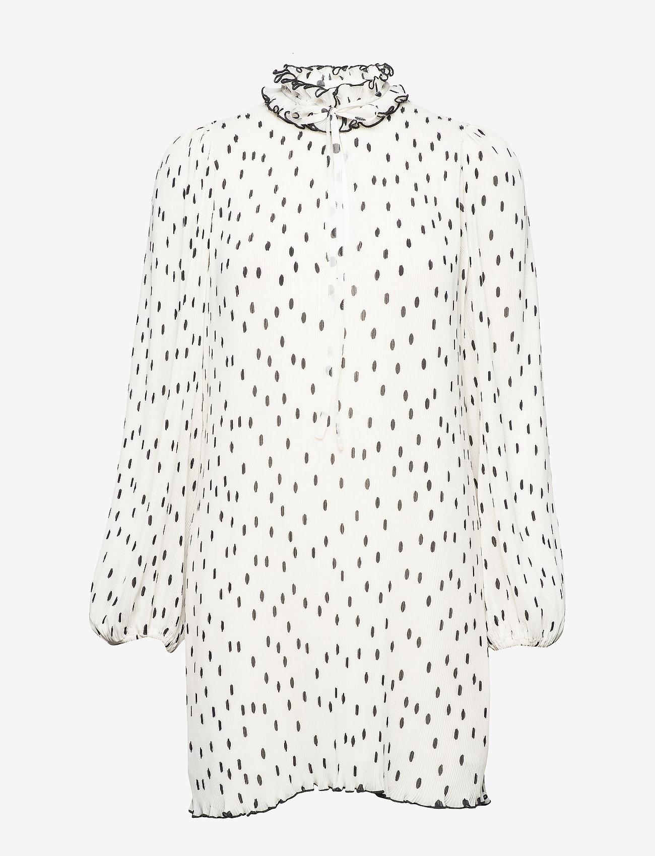 Ganni - Pleated Georgette - midi kjoler - egret - 0