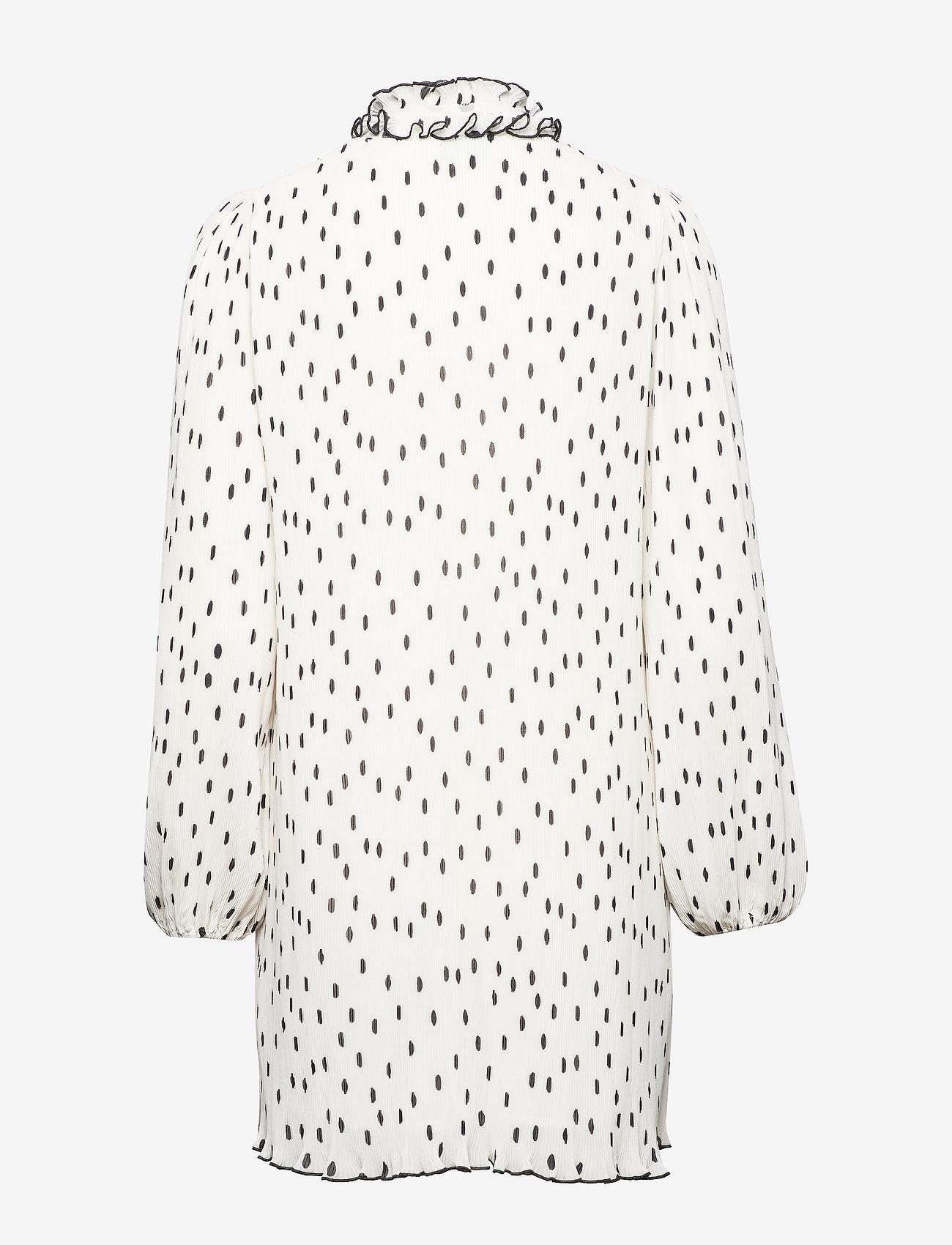 Ganni - Pleated Georgette - midi kjoler - egret - 1