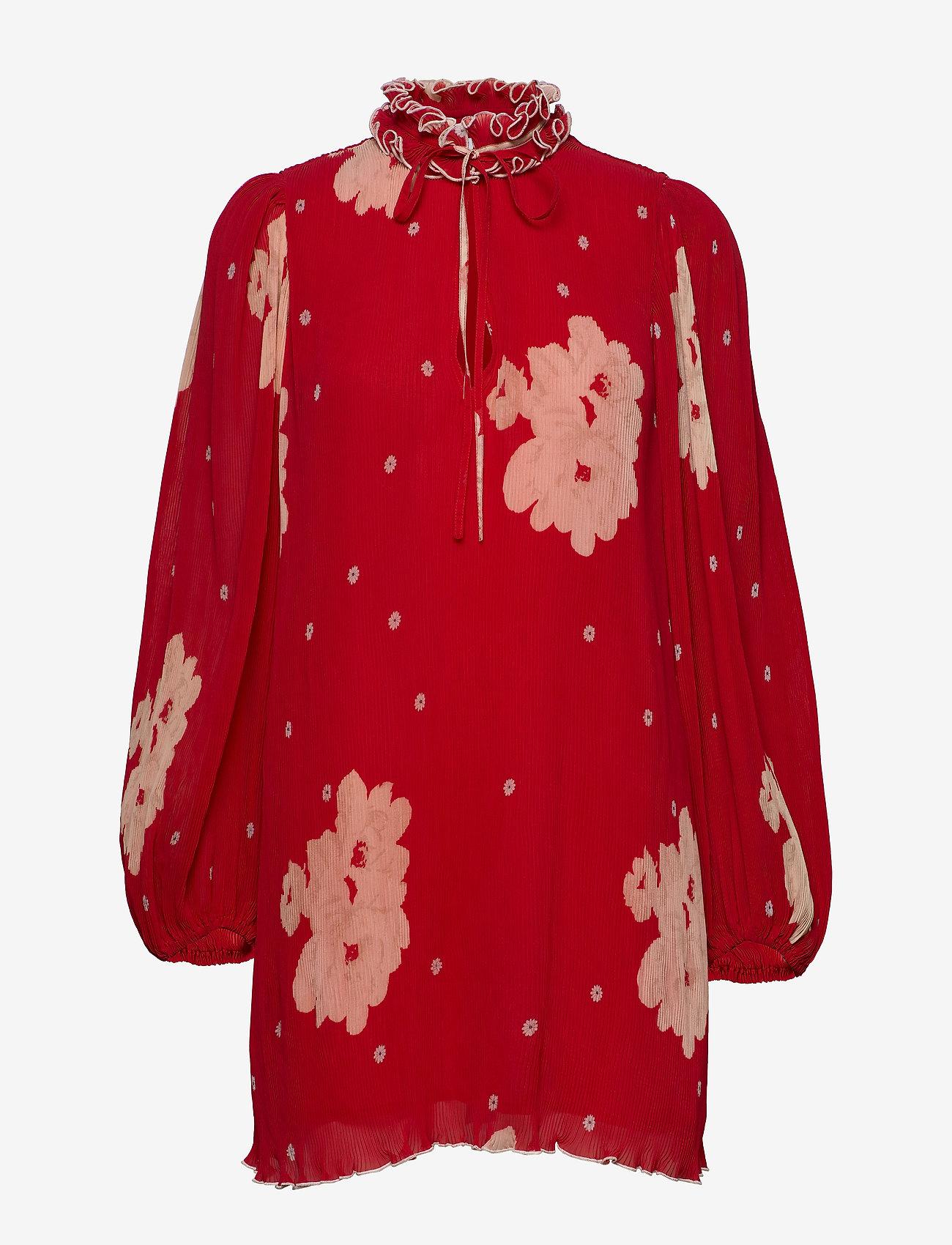 Ganni - Pleated Georgette - midi kjoler - lollipop - 0