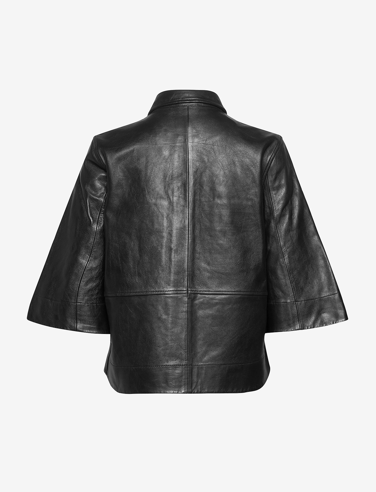 Ganni - Lamb Leather - skinnjackor - black - 1