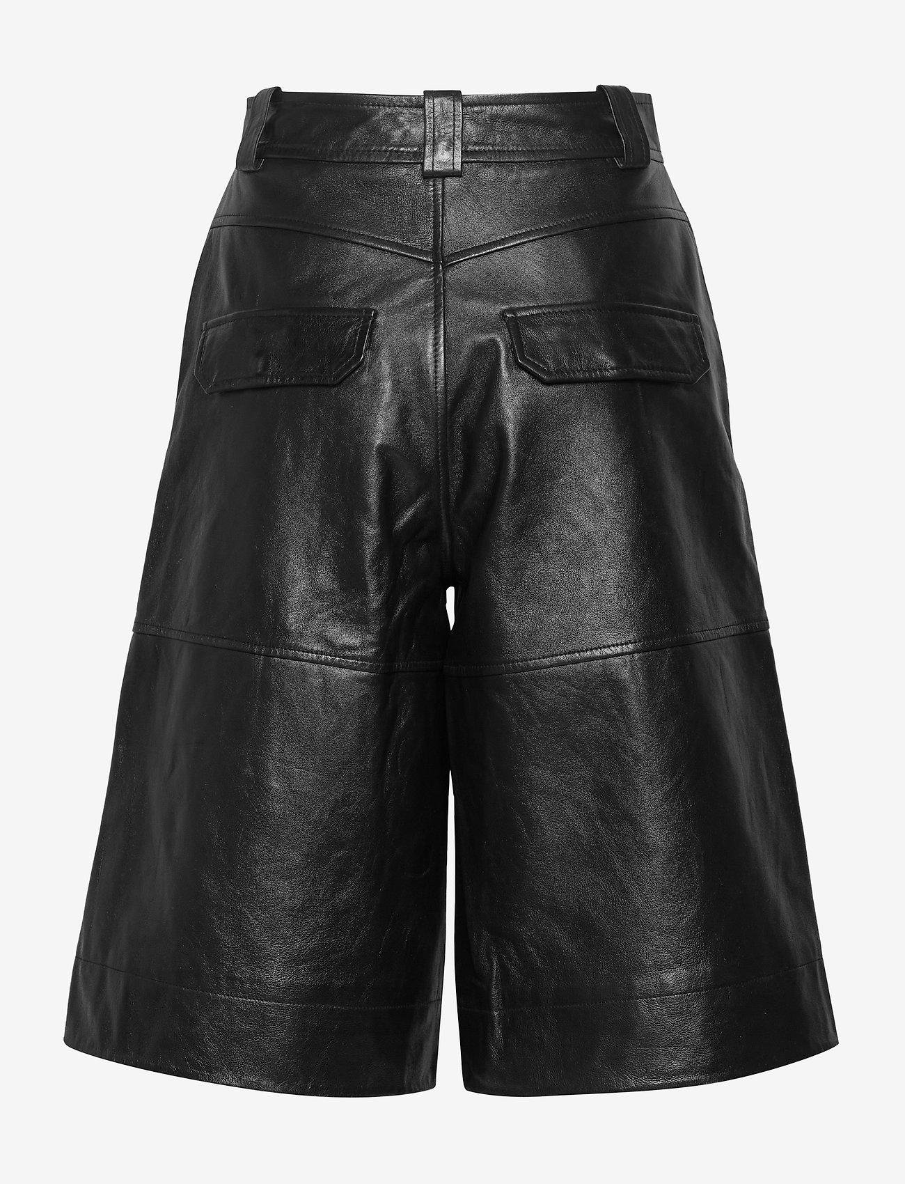 Ganni - Lamb Leather - nahka - black - 1