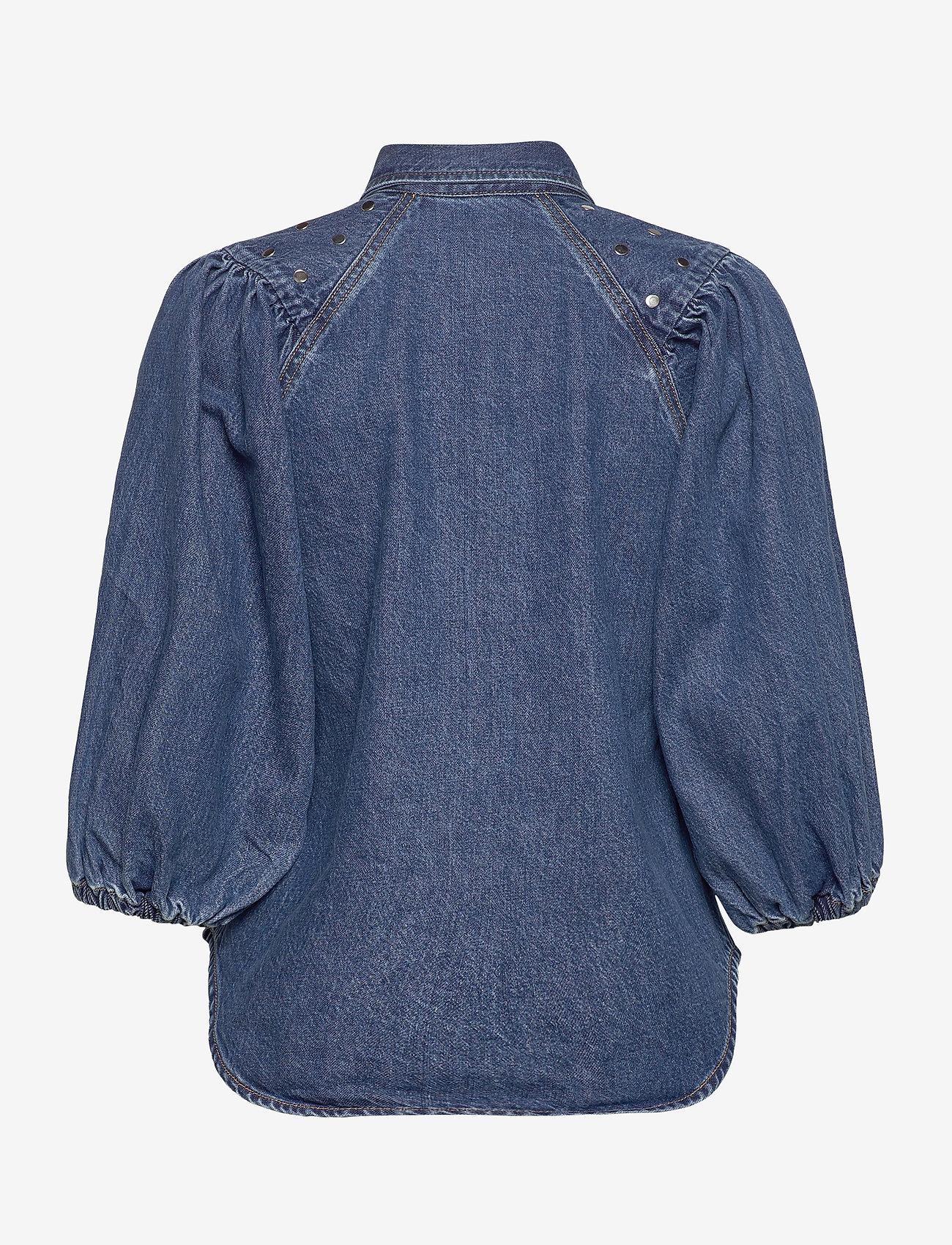 Ganni - Stud Denim - chemises en jeans - denim - 1