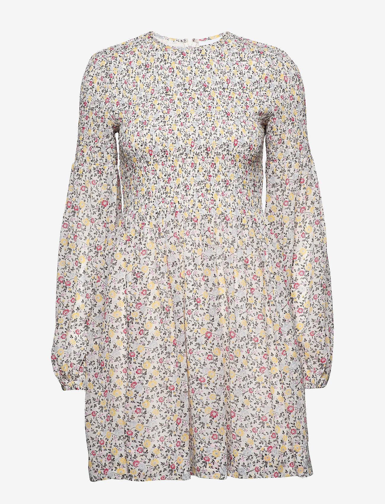 Ganni - Printed Georgette - midi kjoler - egret - 0