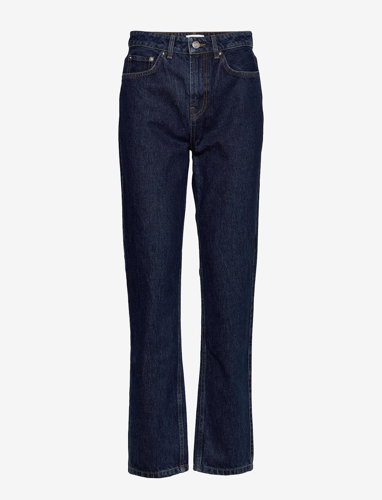 Ganni - Basic Denim - mom jeans - dark indigo - 0