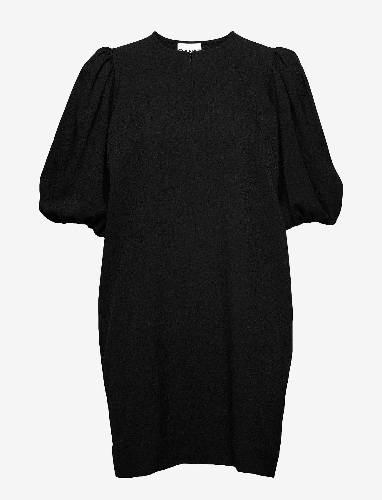Ganni - Heavy Crepe - korte kjoler - black - 0