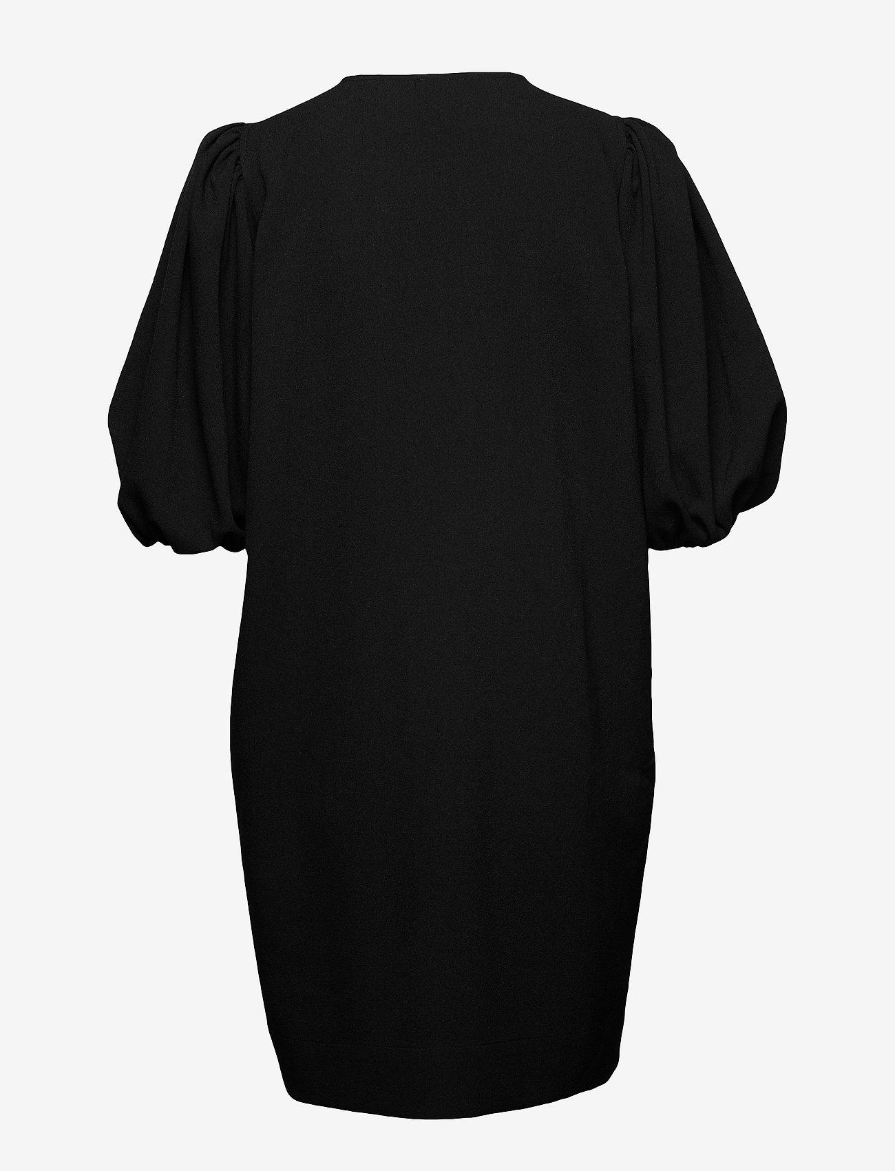 Ganni - Heavy Crepe - korte kjoler - black - 1