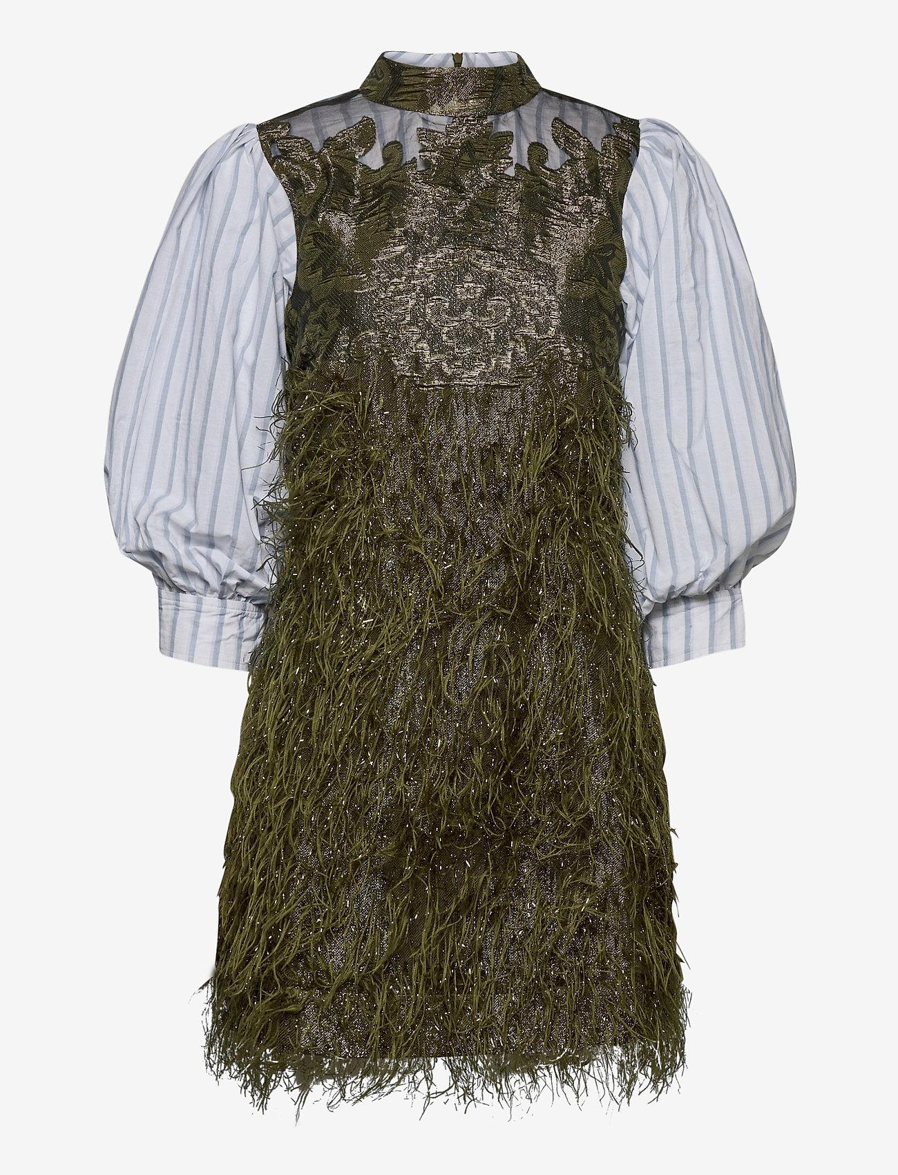 Ganni - Feathery Cotton - midi kjoler - kalamata - 0