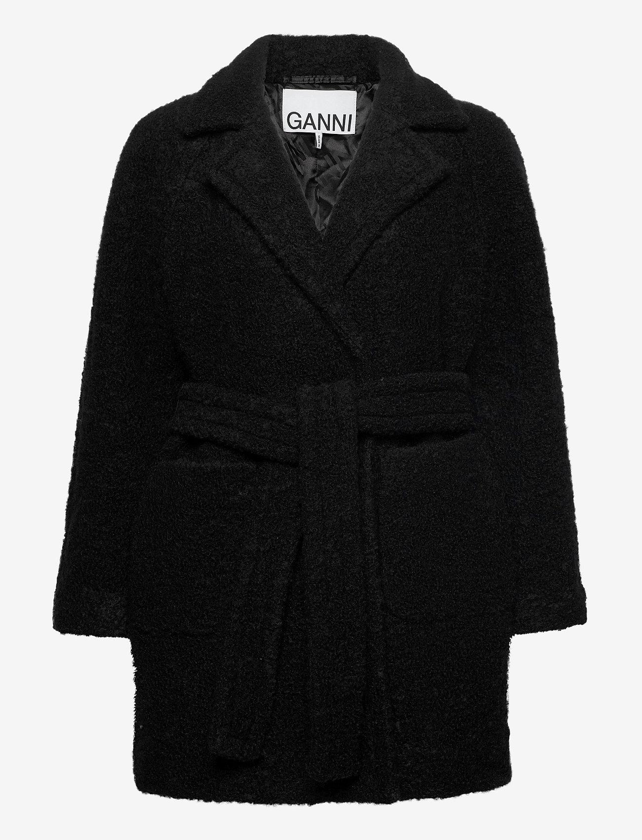 Ganni - Boucle Wool - uldjakker - black - 0