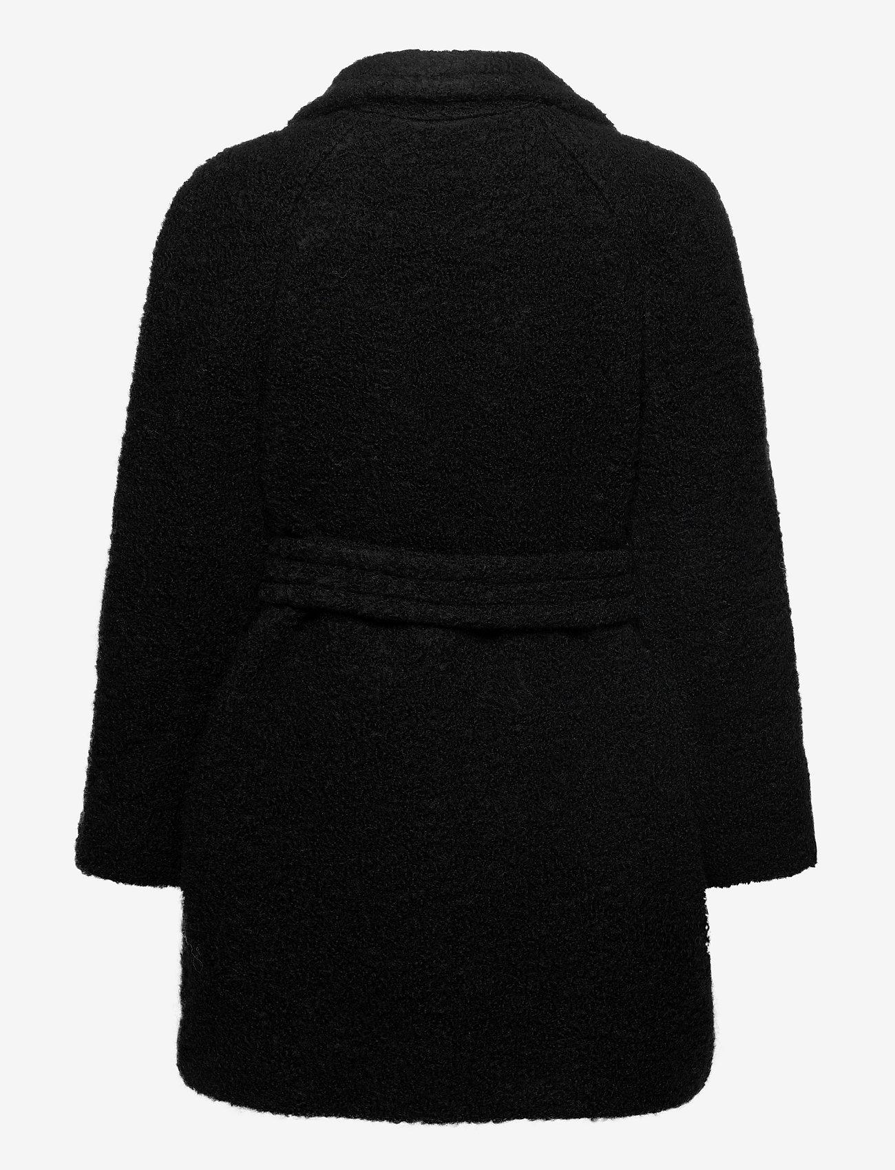 Ganni - Boucle Wool - uldjakker - black - 1