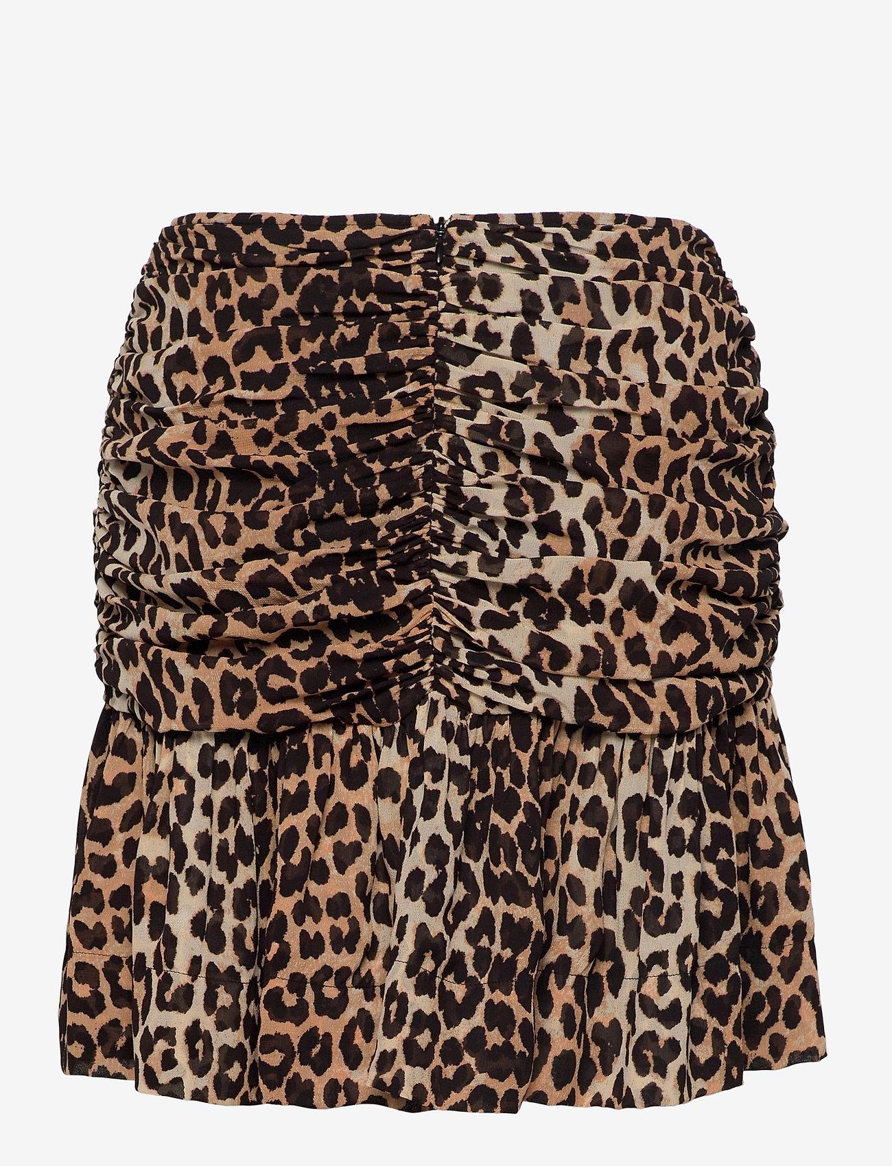 Ganni - Printed Georgette - korte nederdele - leopard - 1