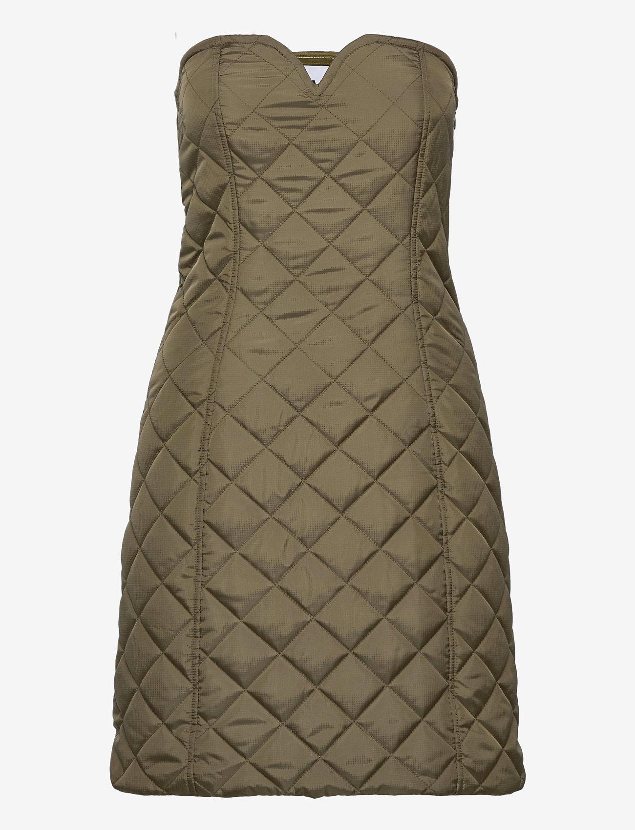 Ganni - Recycled Ripstop Quilt - bodycon dresses - kalamata - 0