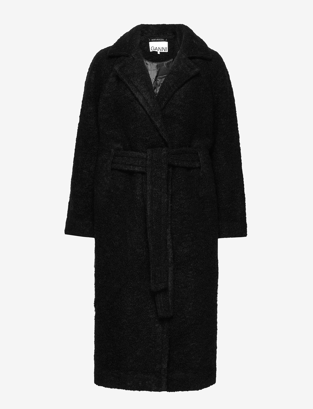 Ganni - Boucle Wool - uldfrakker - black - 0