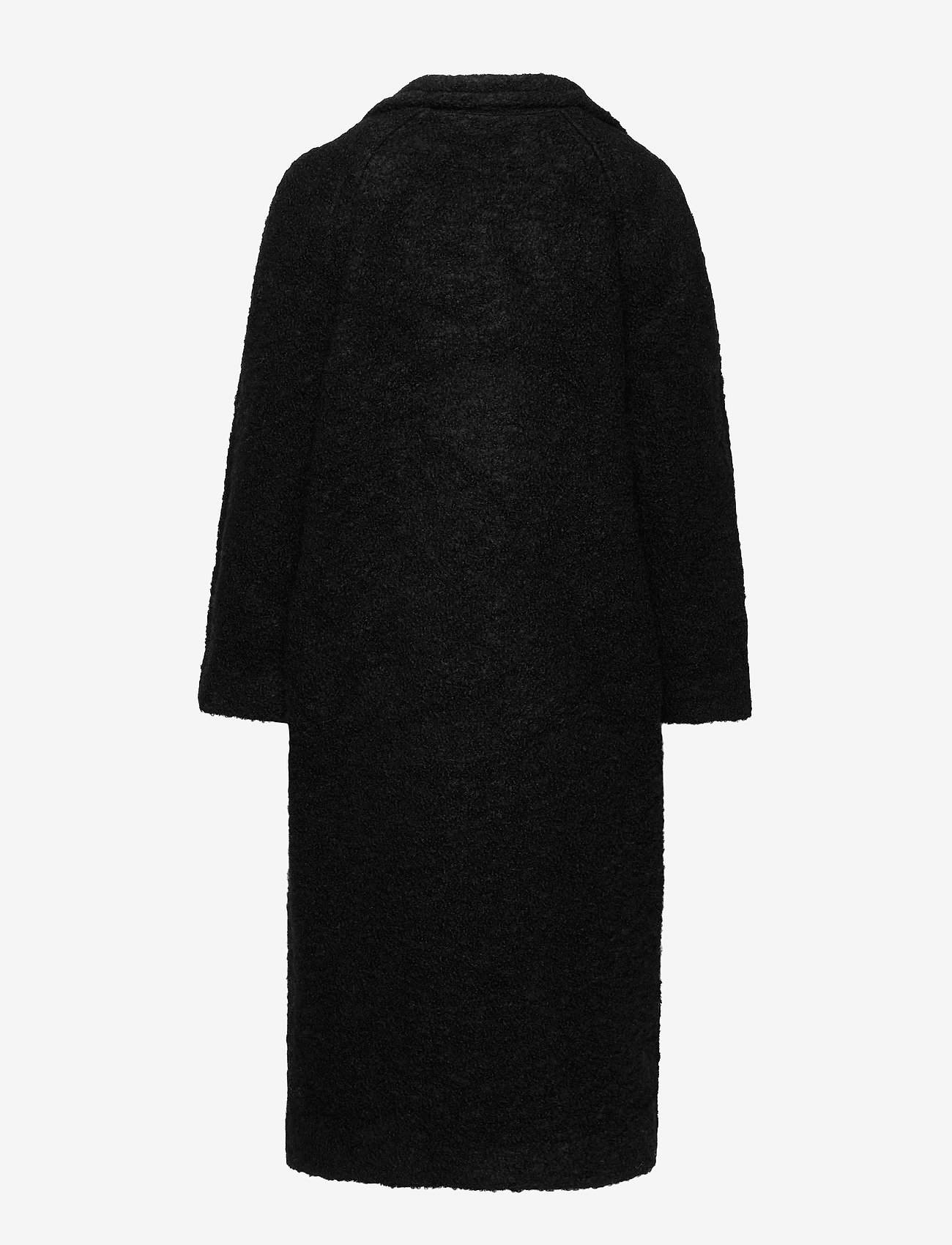 Ganni - Boucle Wool - uldfrakker - black - 1