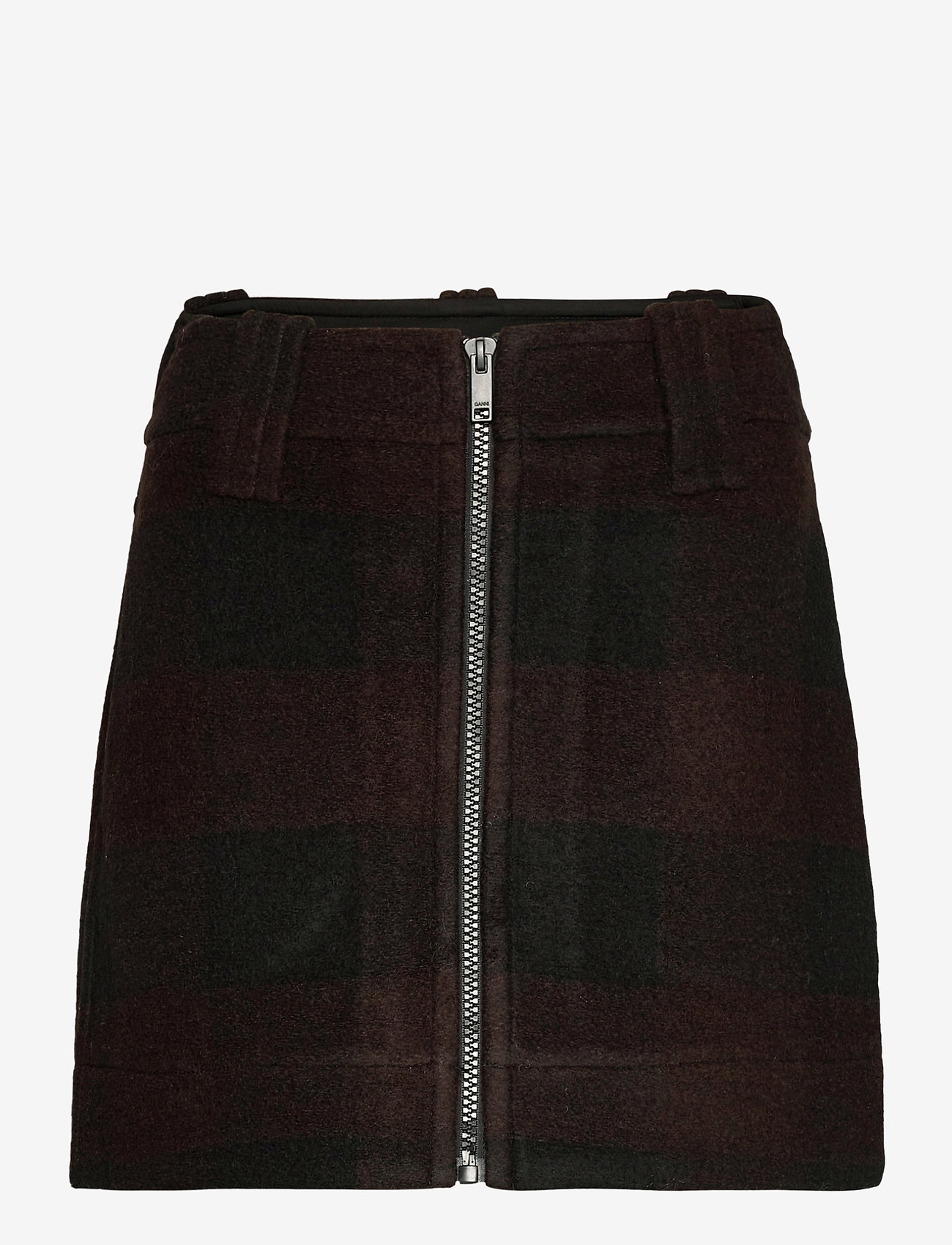 Ganni - Double Wool - korte nederdele - black - 0