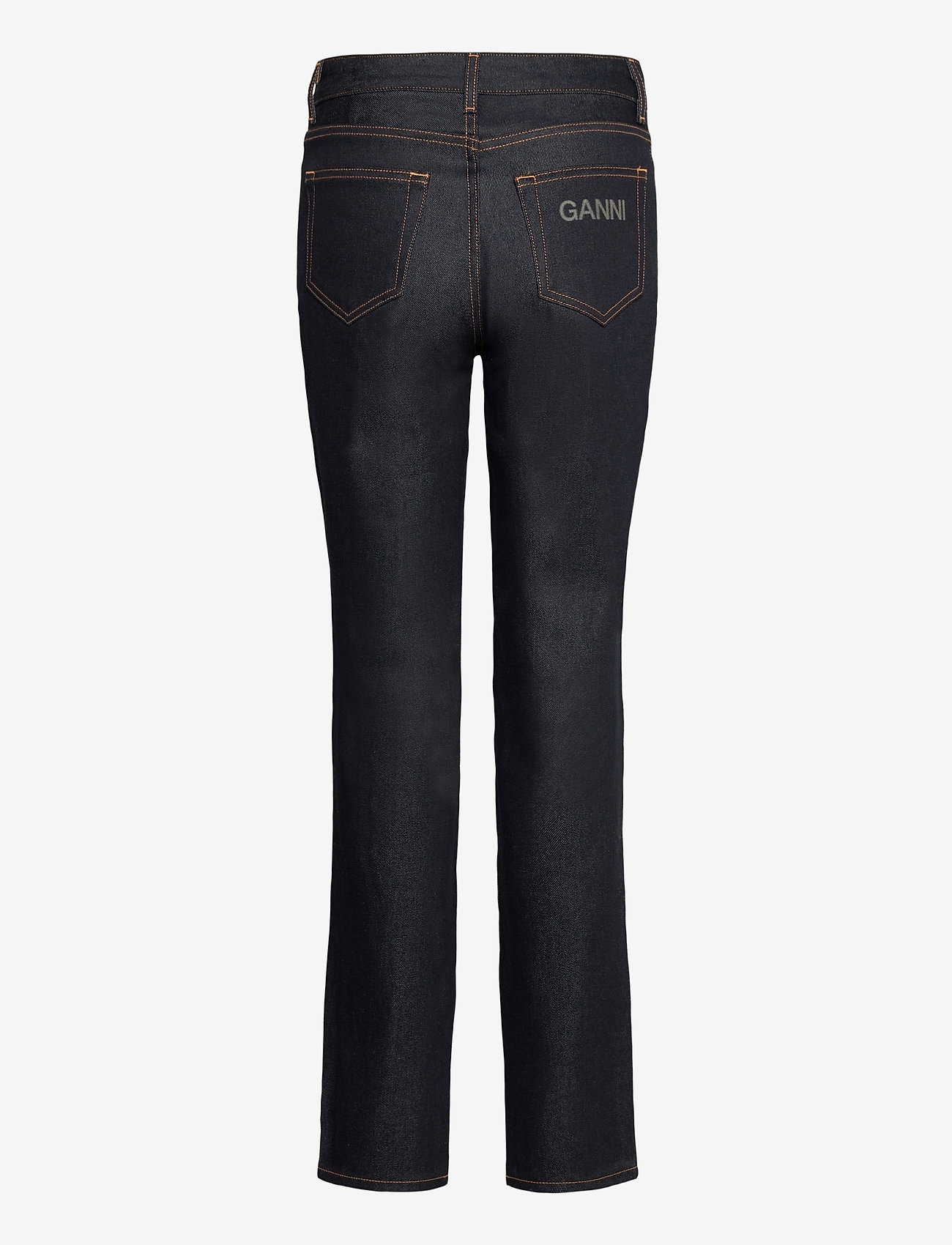 Ganni - Raw Denim - slim jeans - indigo - 1