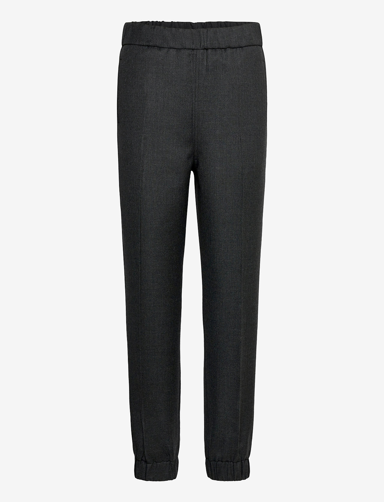 Ganni - Wool Suiting - straight leg trousers - phantom - 0