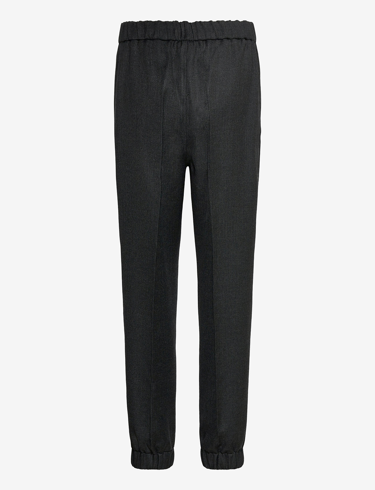 Ganni - Wool Suiting - straight leg trousers - phantom - 1
