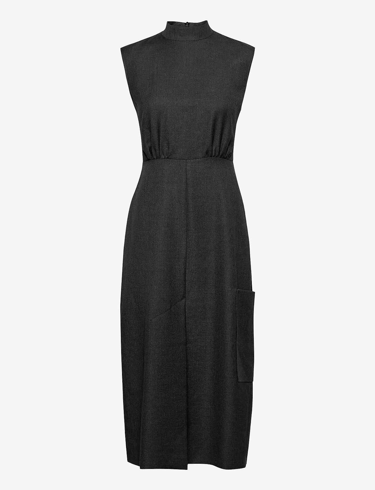 Ganni - Wool Suiting - summer dresses - phantom - 0