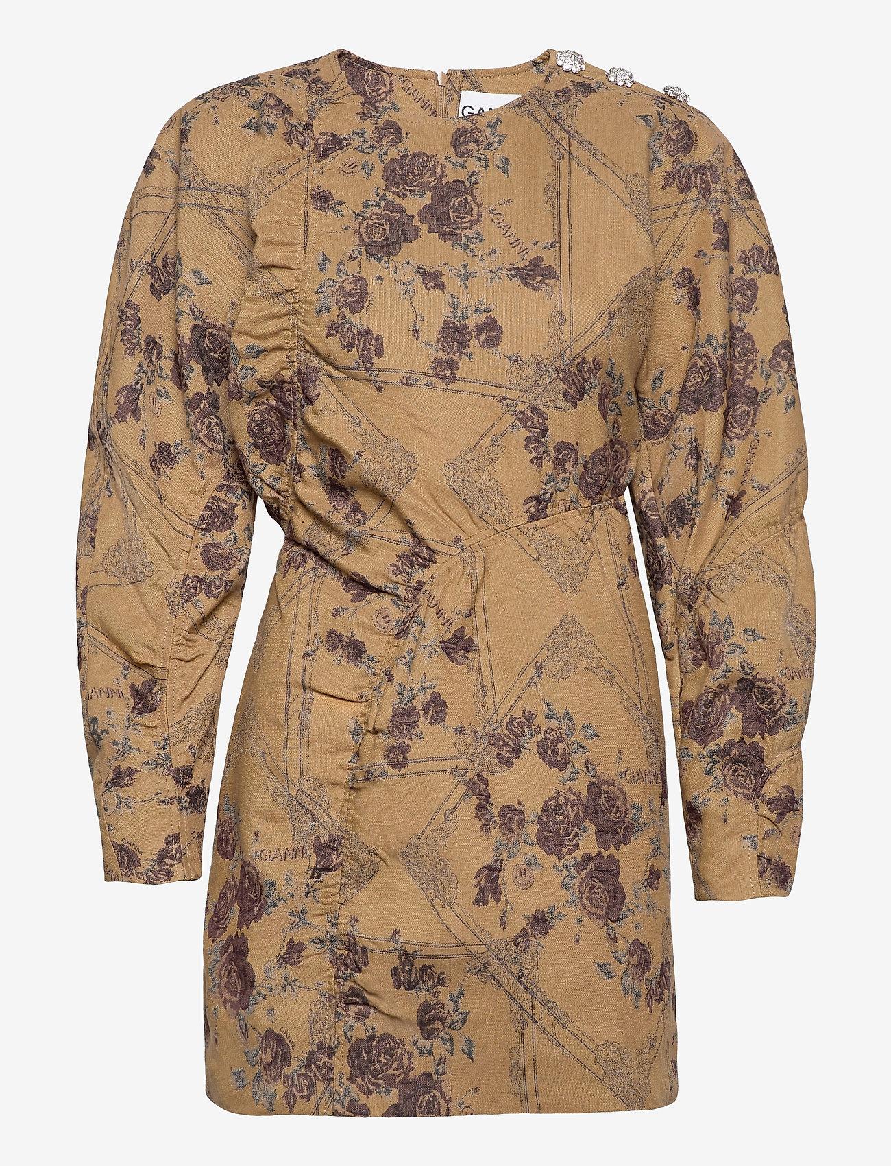 Ganni - Brocade Jacquard - summer dresses - tiger's eye - 1