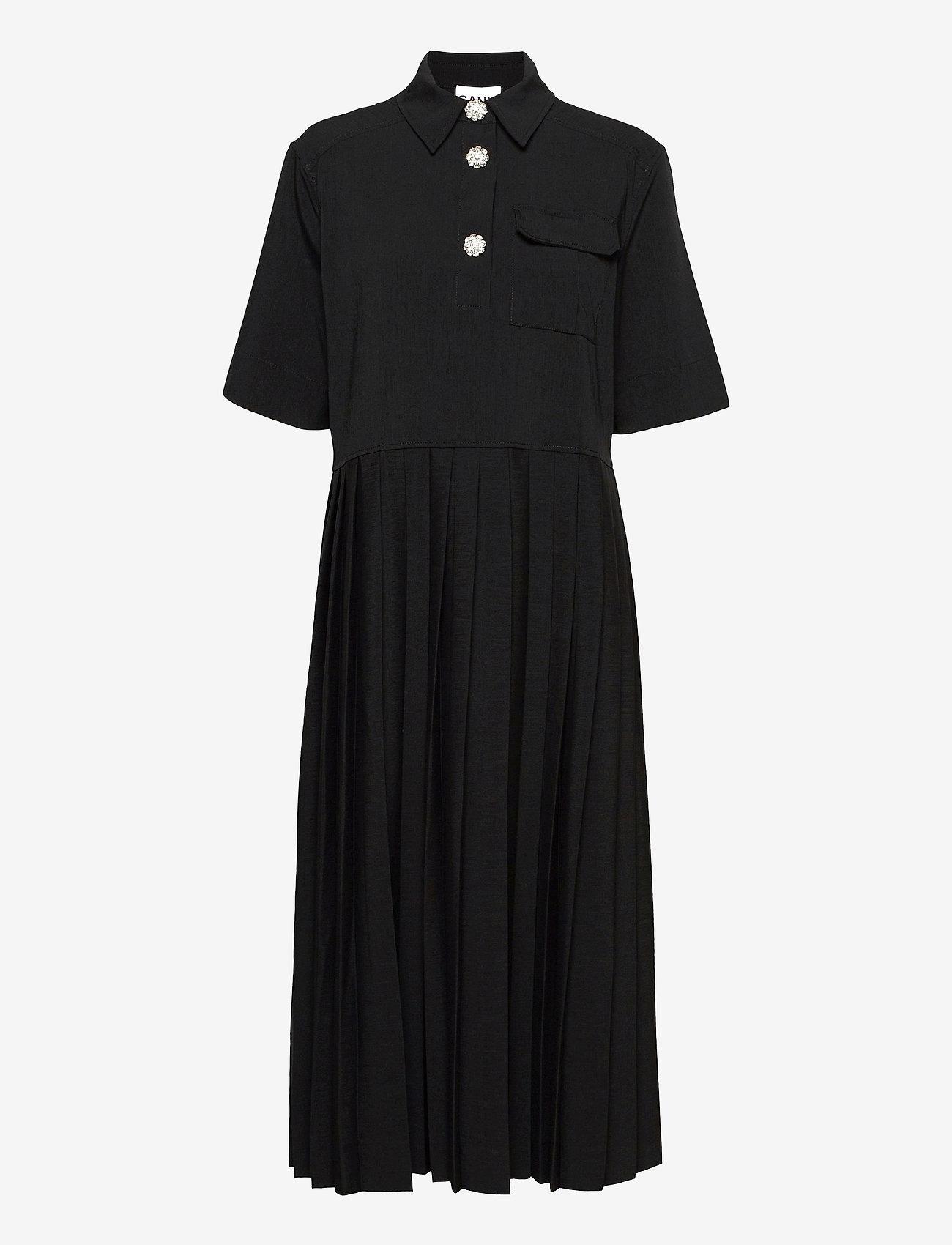 Ganni - Melange Suiting - hverdagskjoler - black - 1